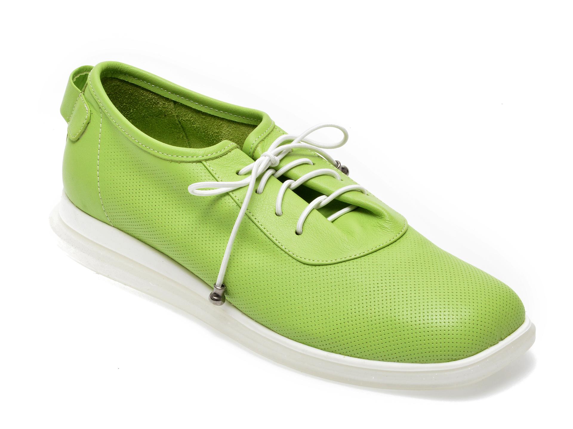 Pantofi FLAVIA PASSINI verzi, 1252701, din piele naturala imagine otter.ro 2021