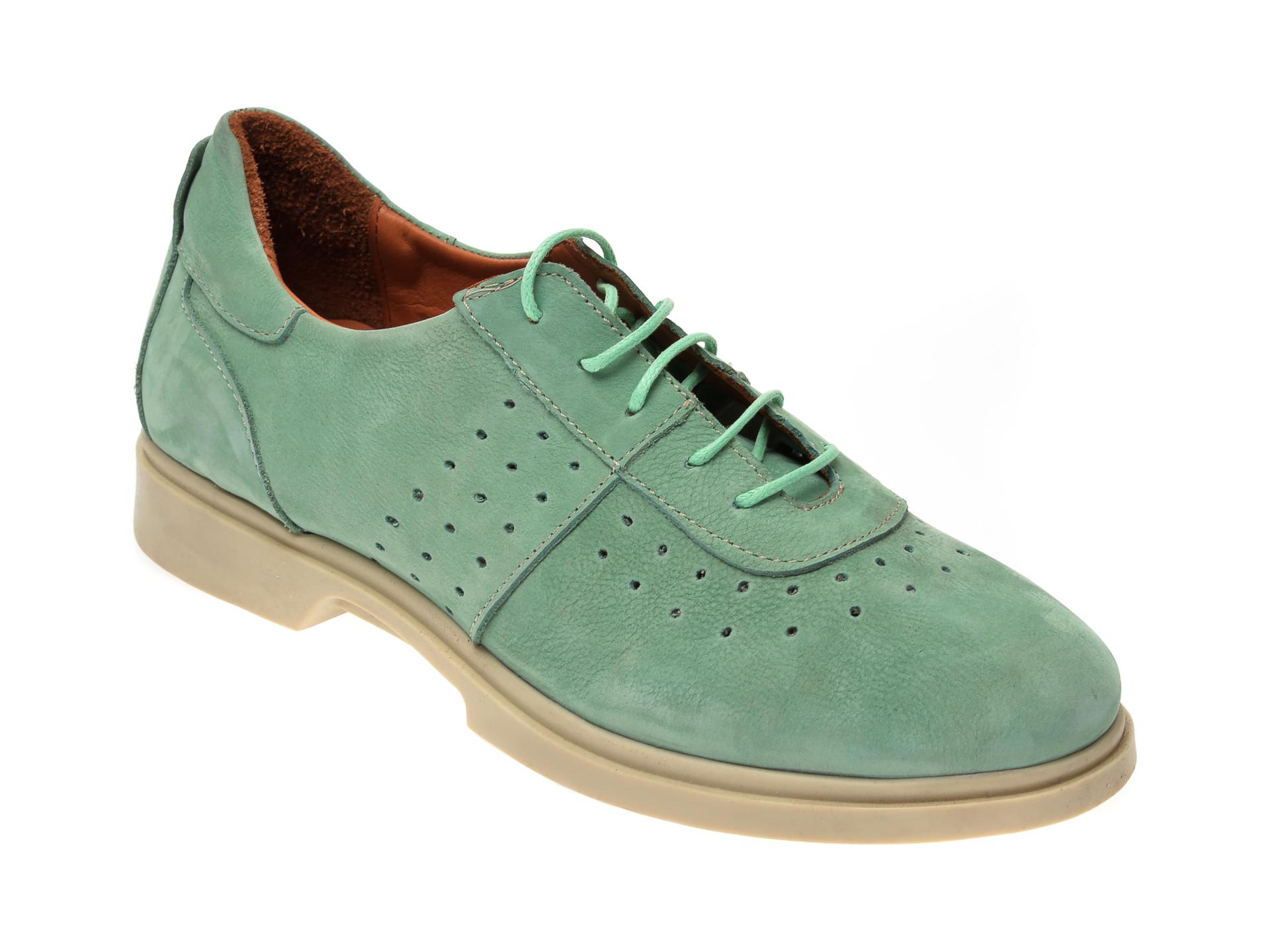 Pantofi FLAVIA PASSINI verzi, 2201, din nabuc