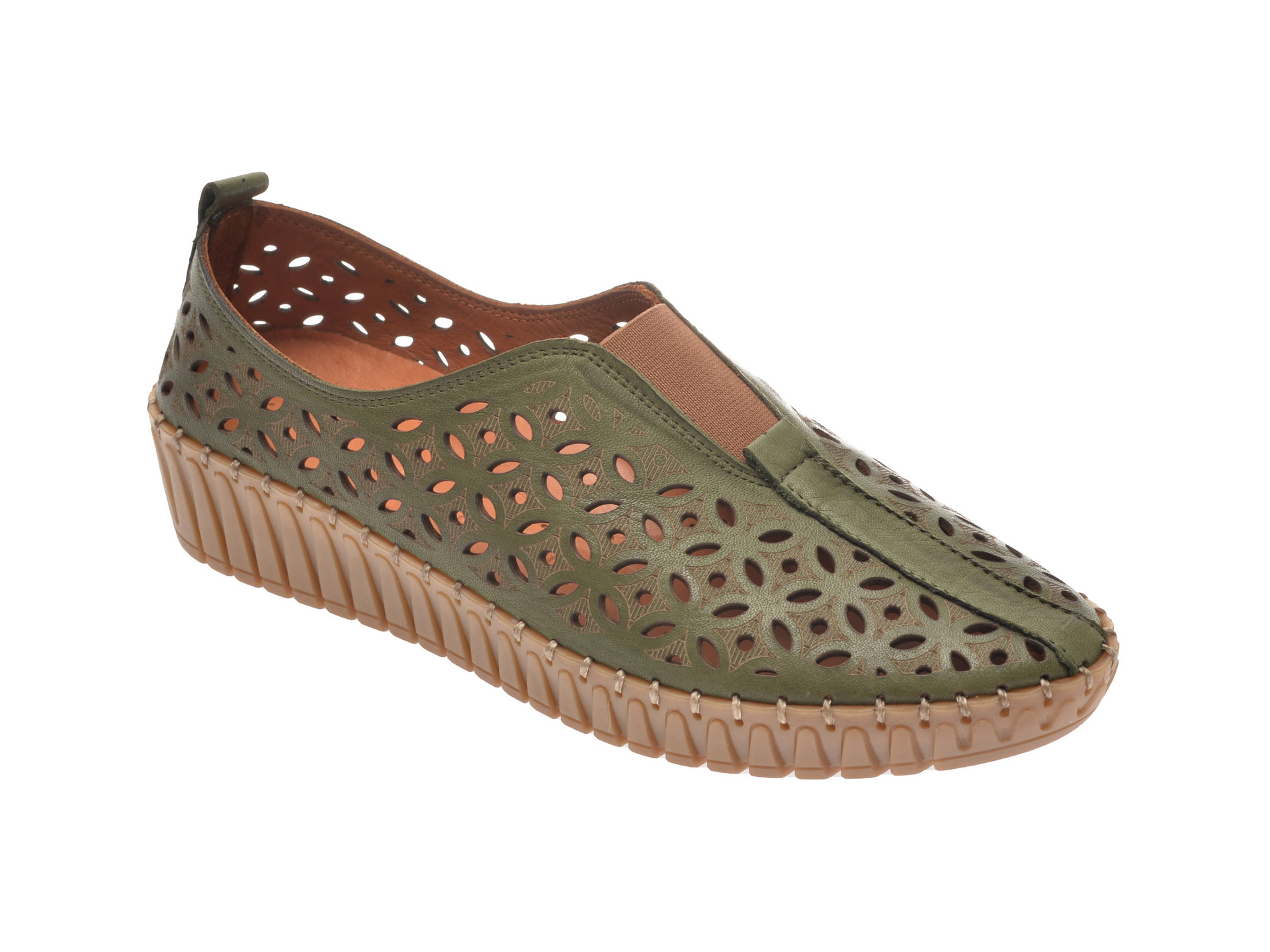 Pantofi FLAVIA PASSINI verzi, 2389001, din piele naturala imagine