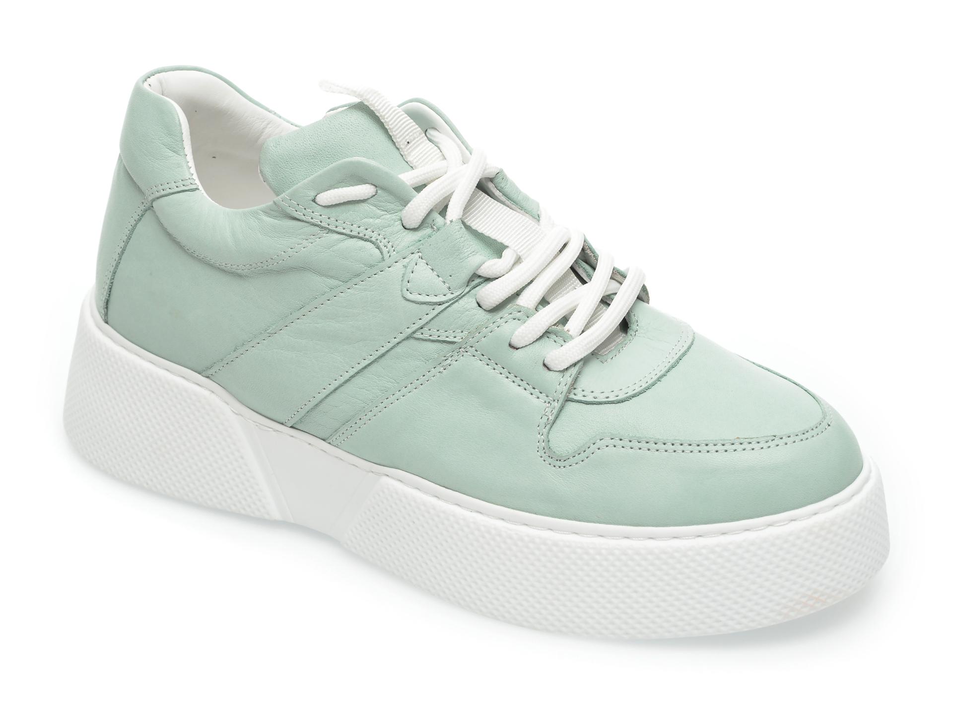 Pantofi Flavia Passini Verzi, 4701, Din Piele Naturala