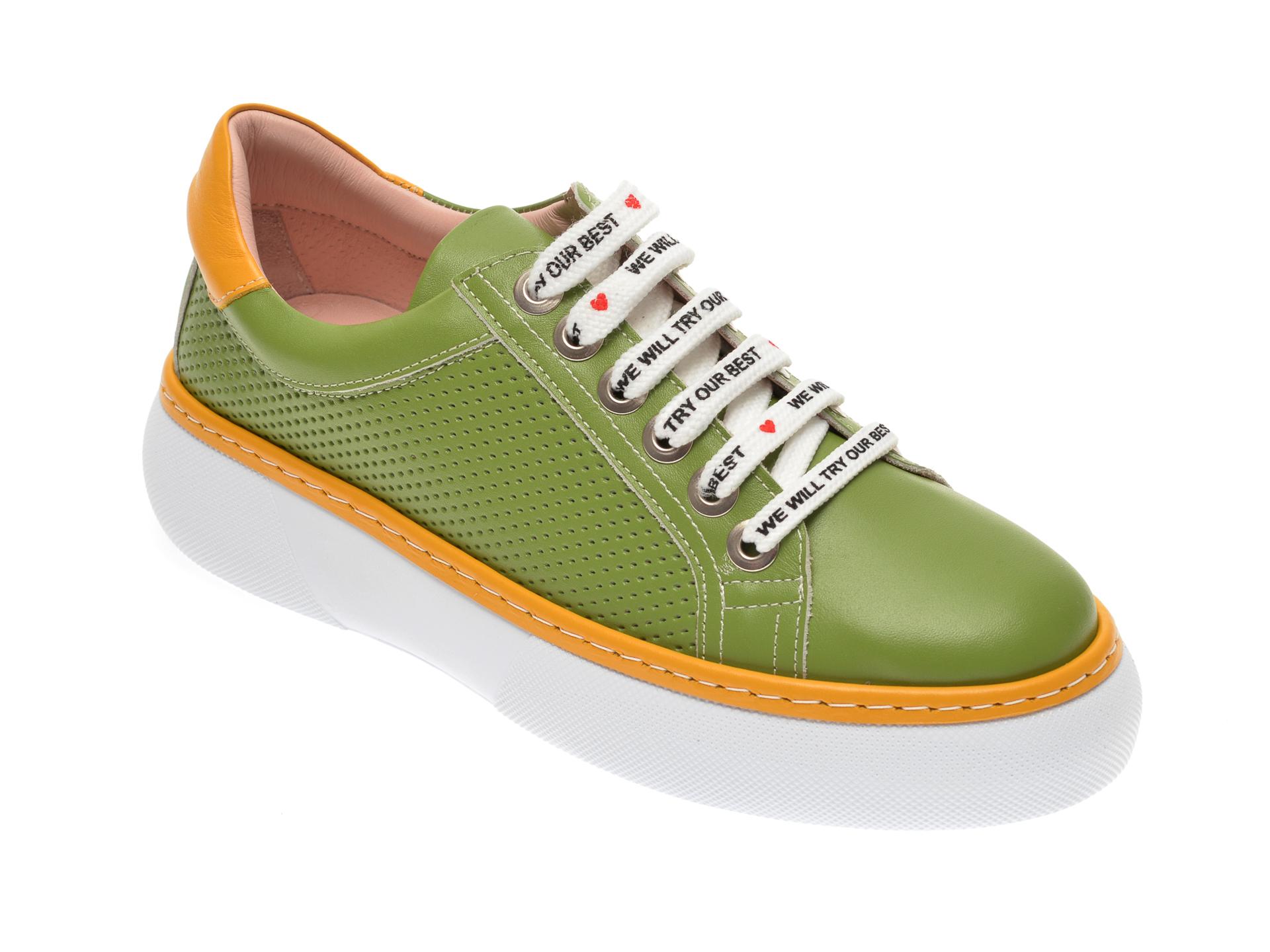 Pantofi FLAVIA PASSINI verzi, 826409, din piele naturala