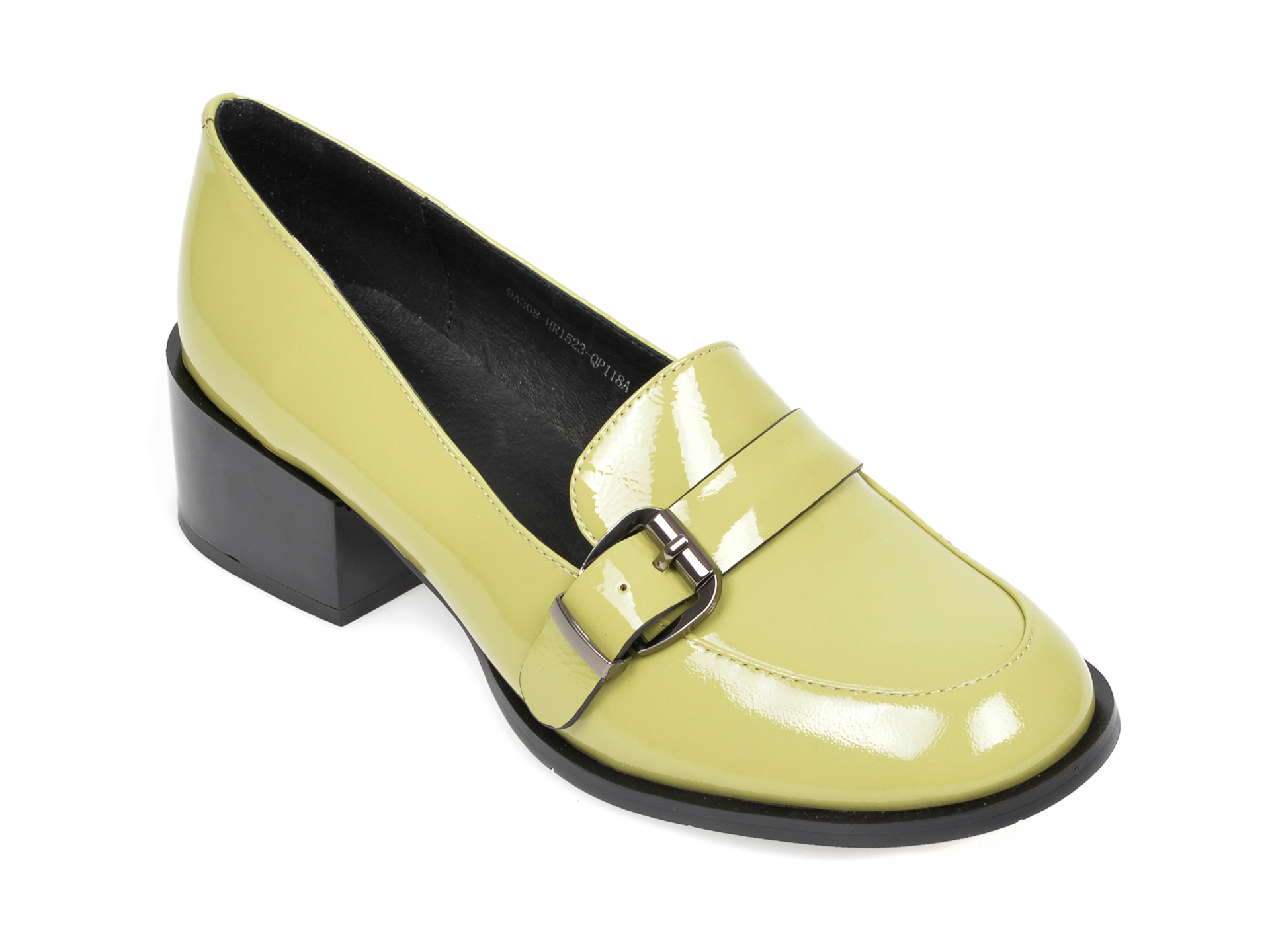Pantofi FLAVIA PASSINI verzi, 9A308HR, din piele naturala lacuita