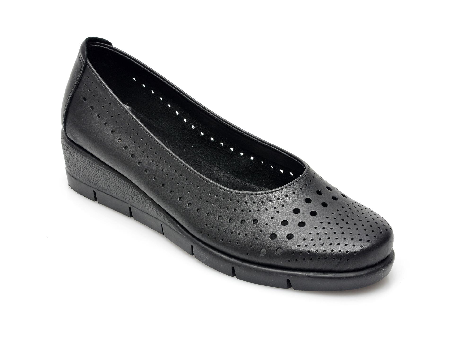 Pantofi FLEXX negri, B23537, din piele naturala