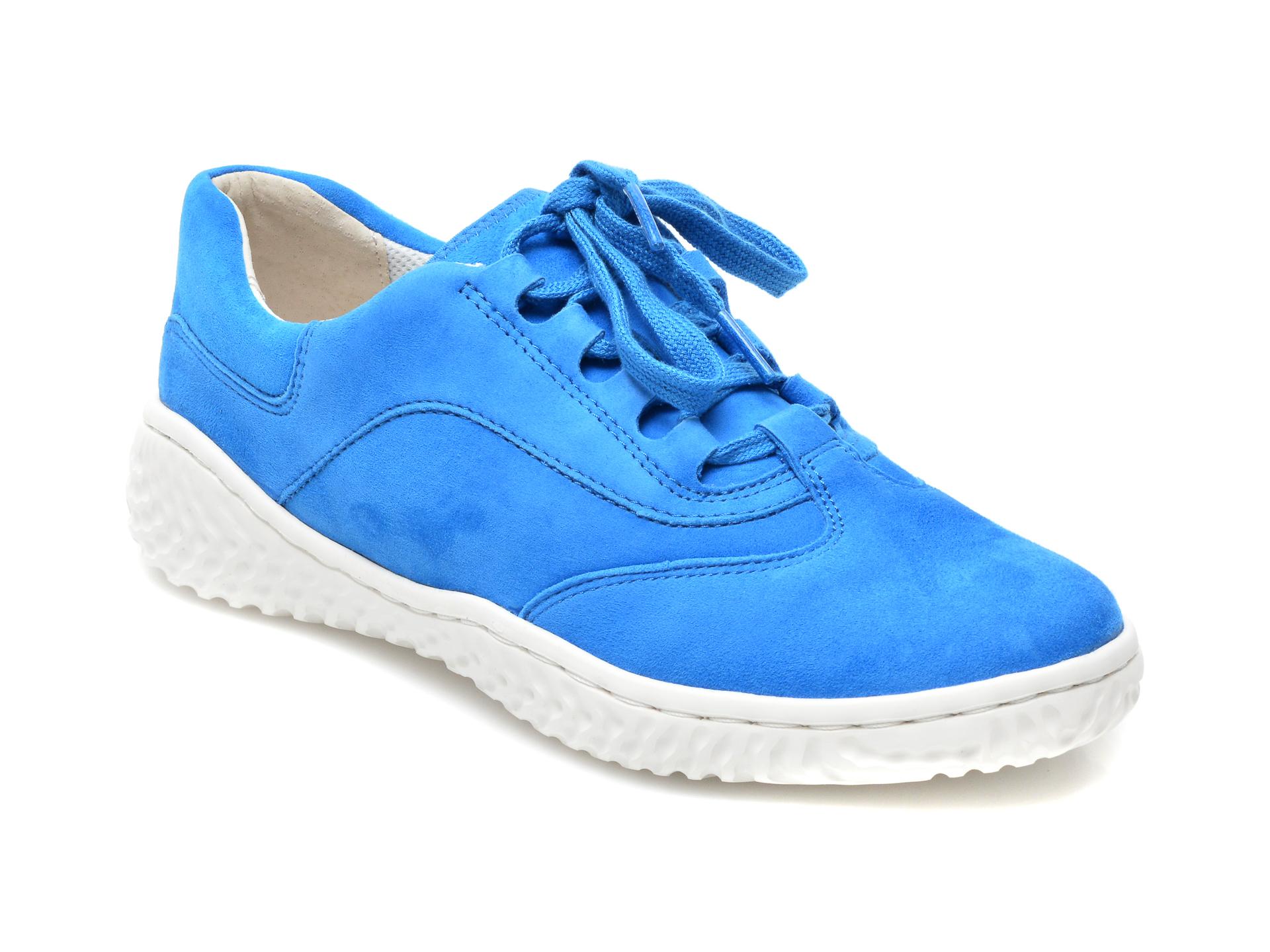 Pantofi Gabor Albastri, 43380, Din Piele Intoarsa