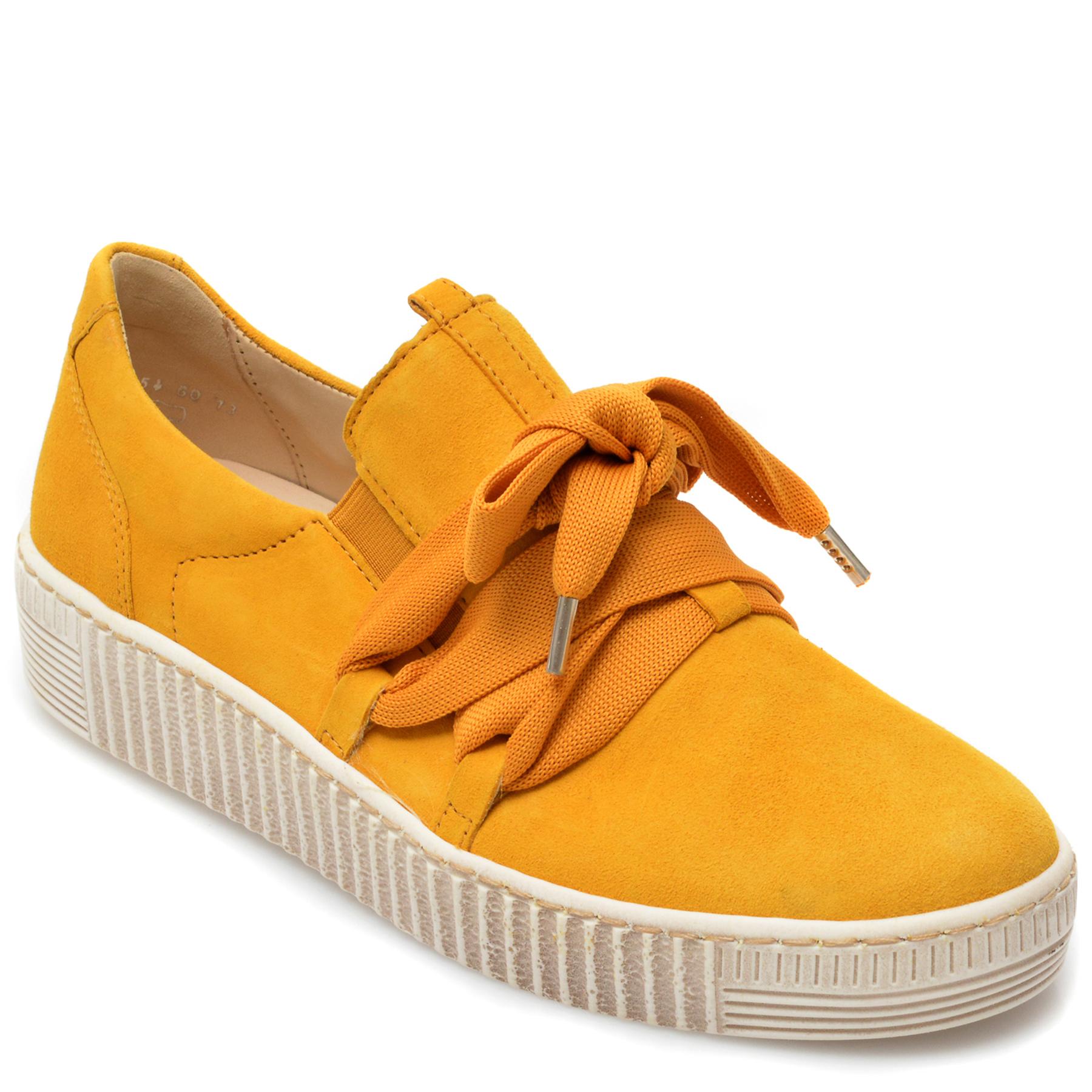 Pantofi GABOR galbeni, 63333, din piele intoarsa imagine otter.ro 2021