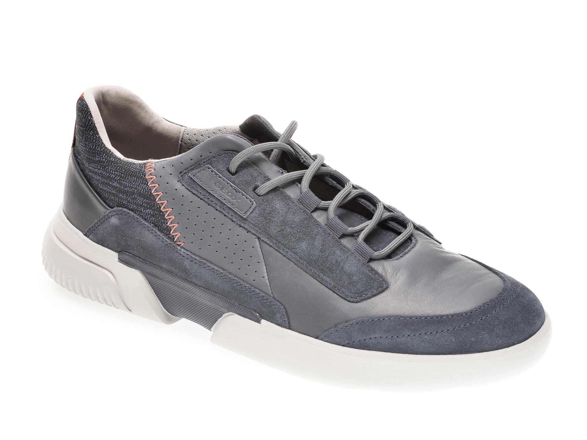 Pantofi GEOX albastri, U04AFA, din piele naturala imagine
