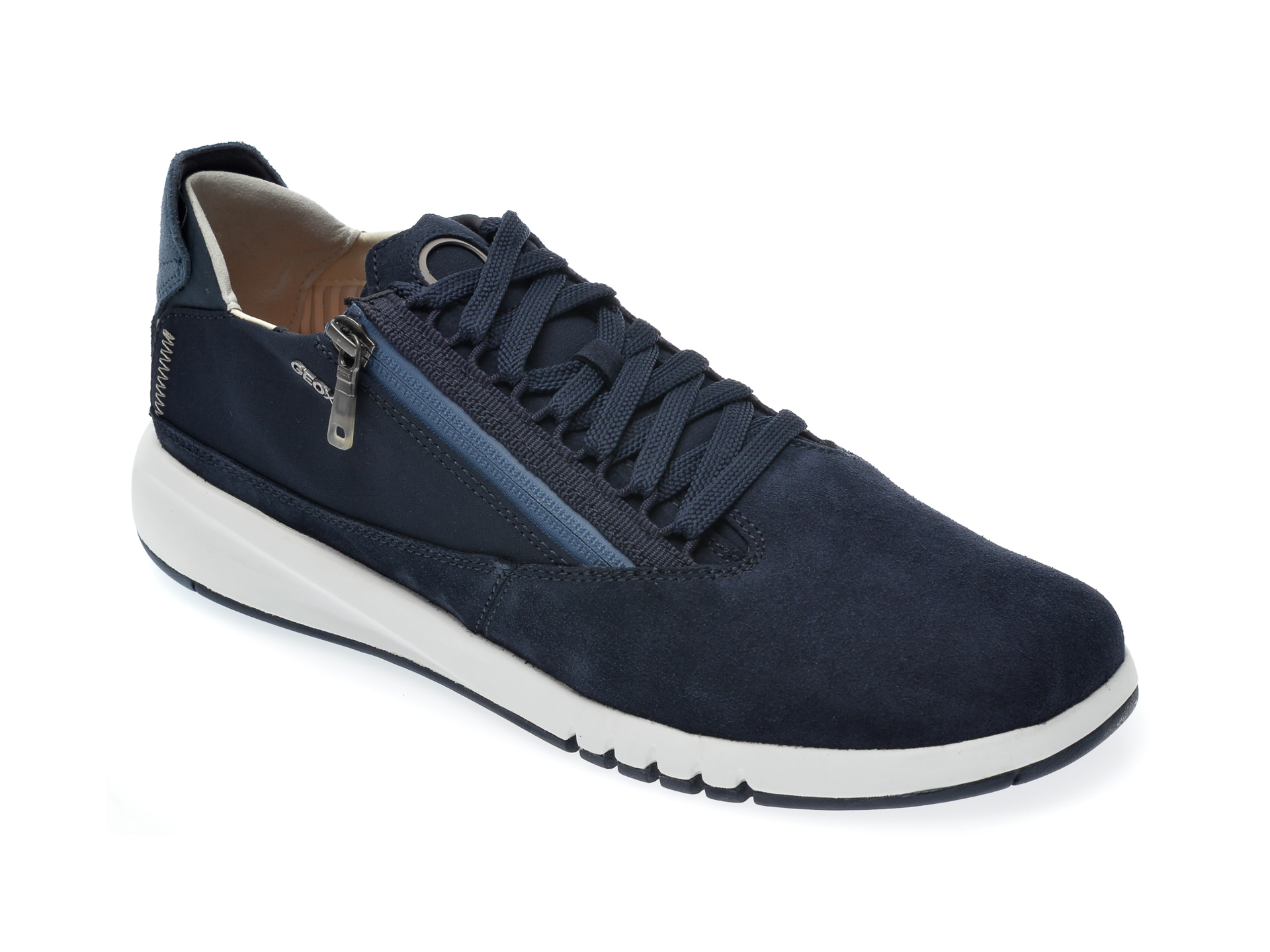 Pantofi GEOX bleumarin, U047FB, din piele intoarsa imagine