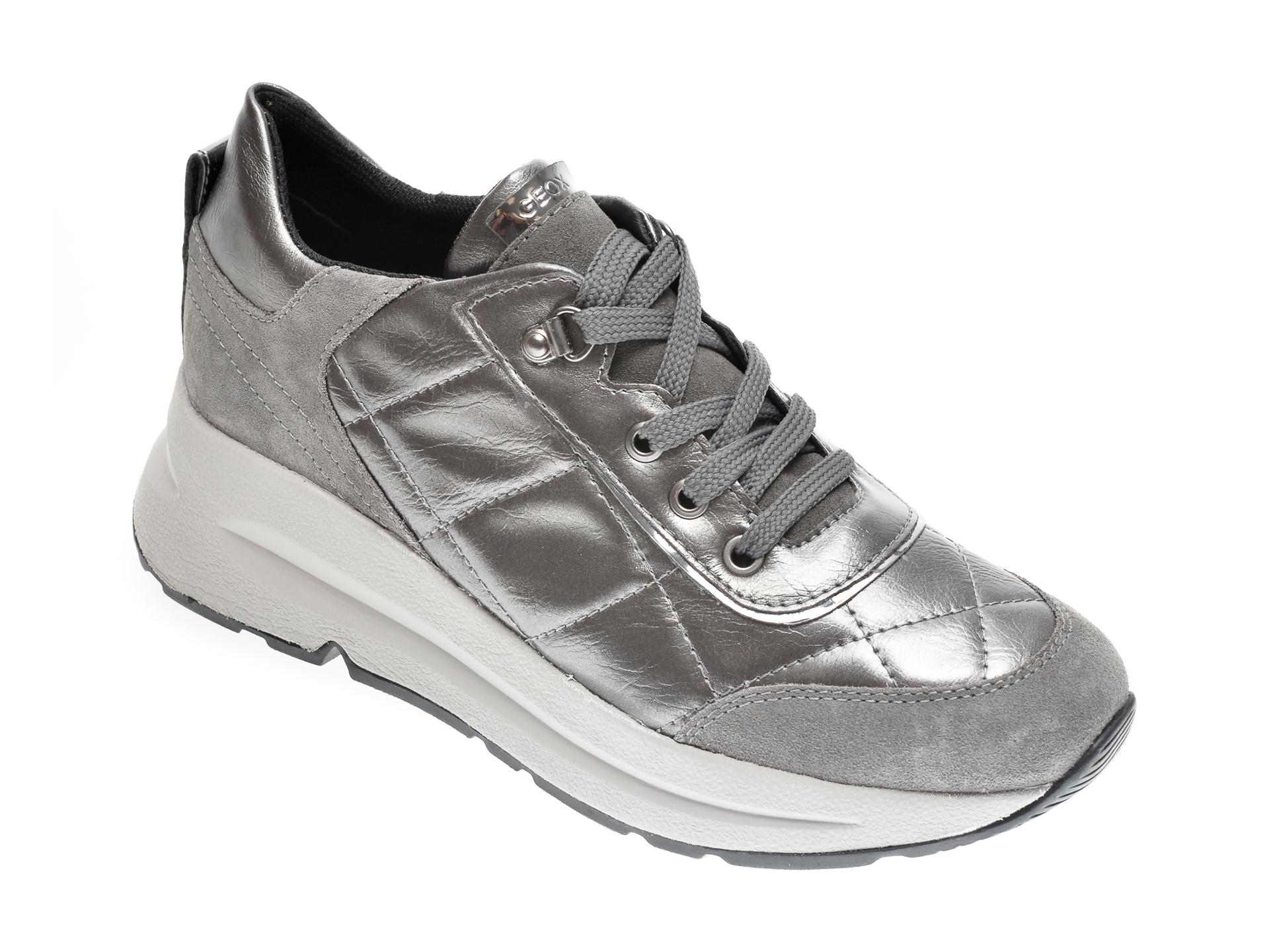 Pantofi GEOX gri, D04FLB, din piele naturala imagine