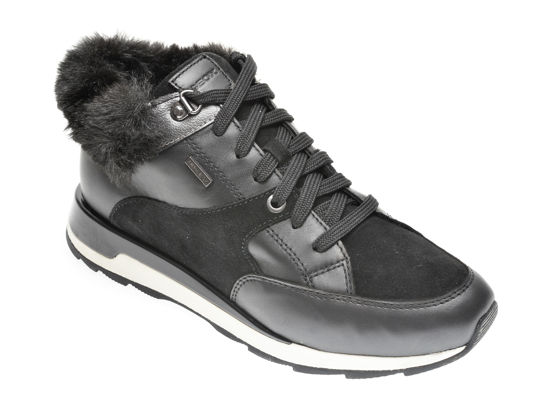 Pantofi GEOX negre, D04LYB, din piele intoarsa imagine