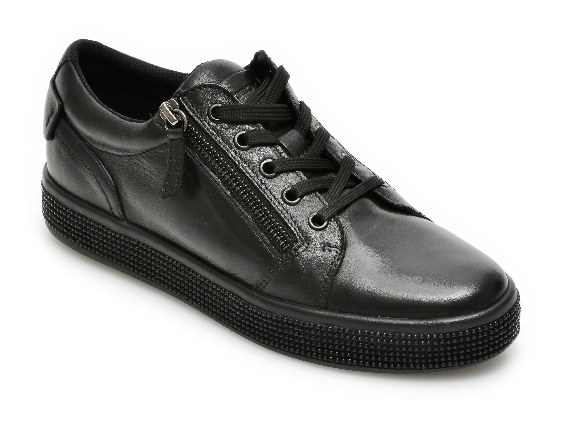 Pantofi GEOX negri, D04FFD, din piele naturala imagine otter.ro