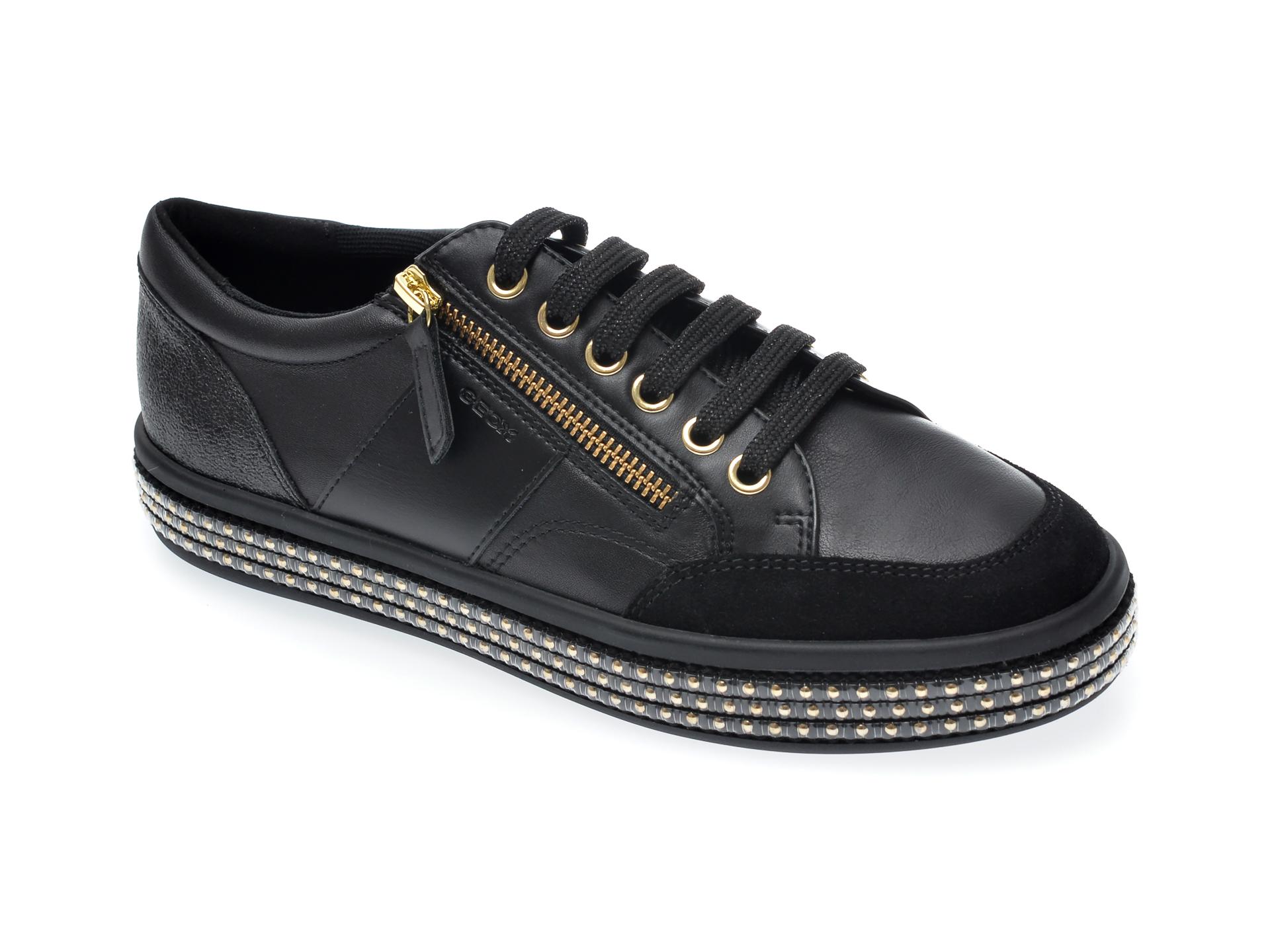 Pantofi GEOX negri, D94FFE, din piele ecologica imagine otter.ro