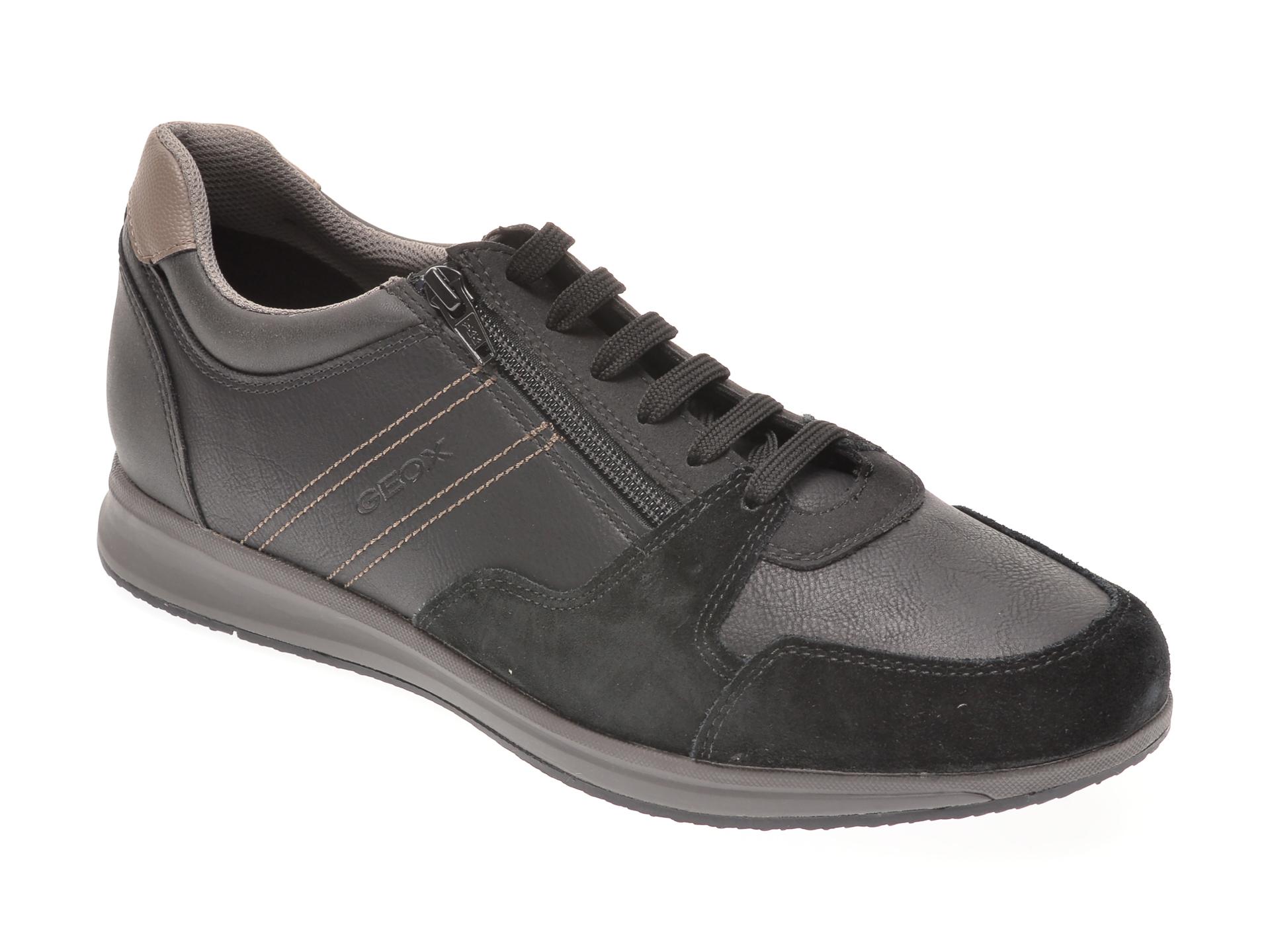 Pantofi GEOX negri, U02H5B, din piele ecologica