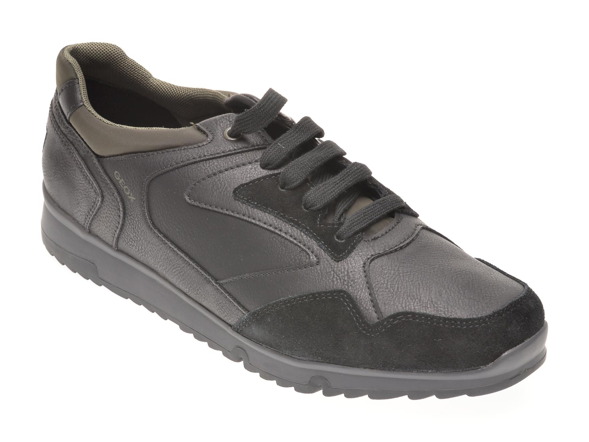 Pantofi GEOX negri, U043XB, din piele ecologica imagine