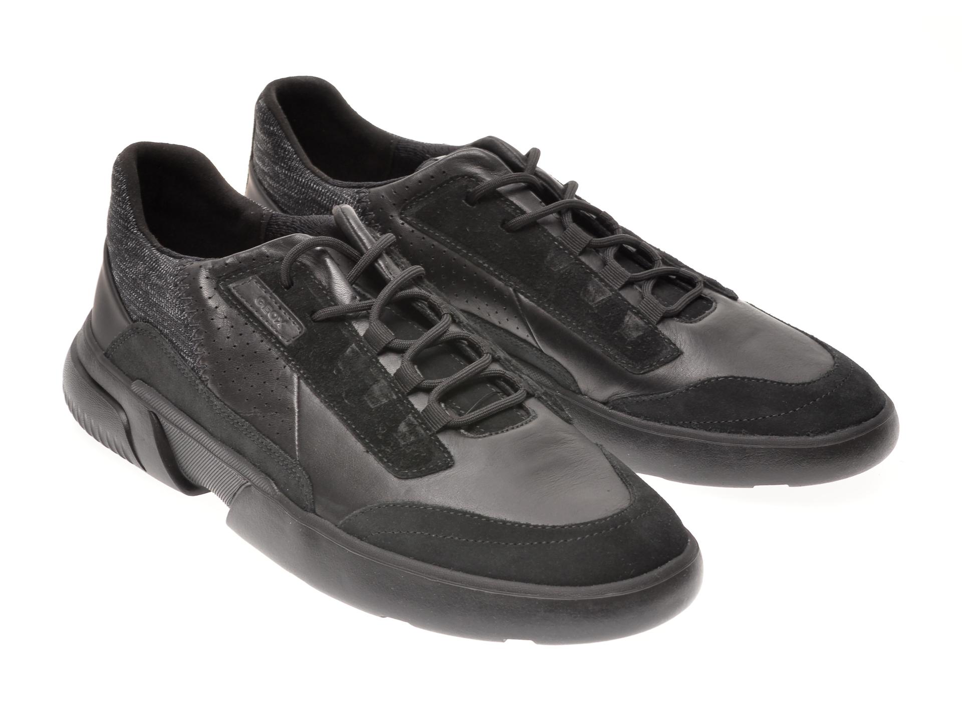 Pantofi GEOX negri, U04AFA, din piele naturala imagine