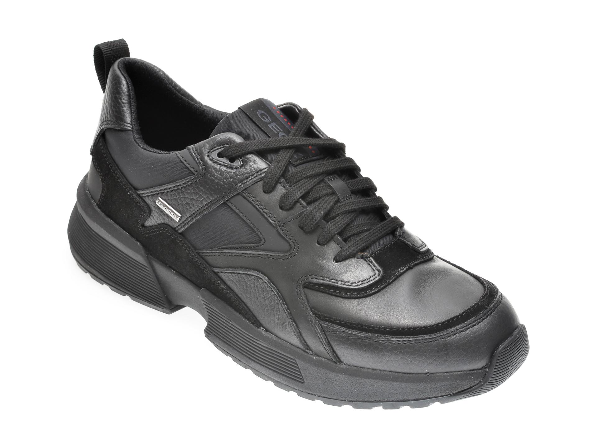 Pantofi GEOX negri, U04AUA, din piele naturala imagine