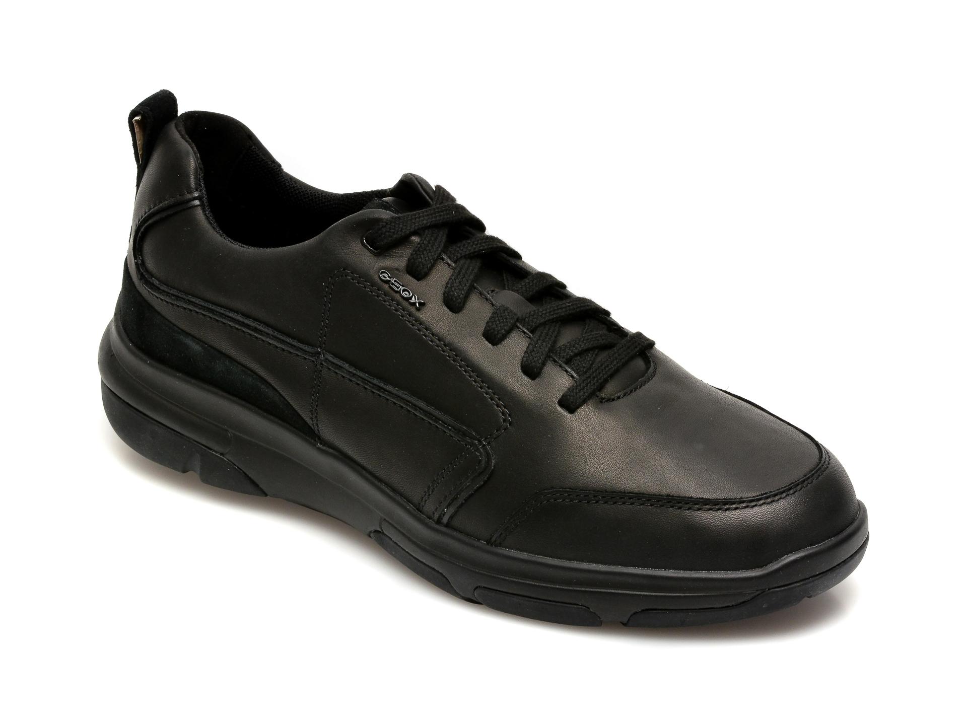 Pantofi sport GEOX negri, U150EB, din piele naturala