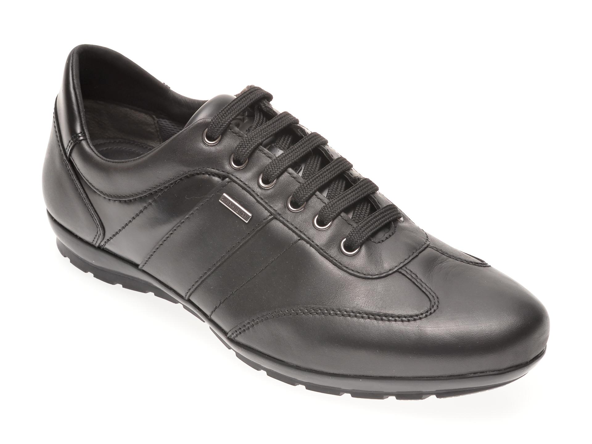 Pantofi GEOX negri, U44P2B, din piele naturala imagine