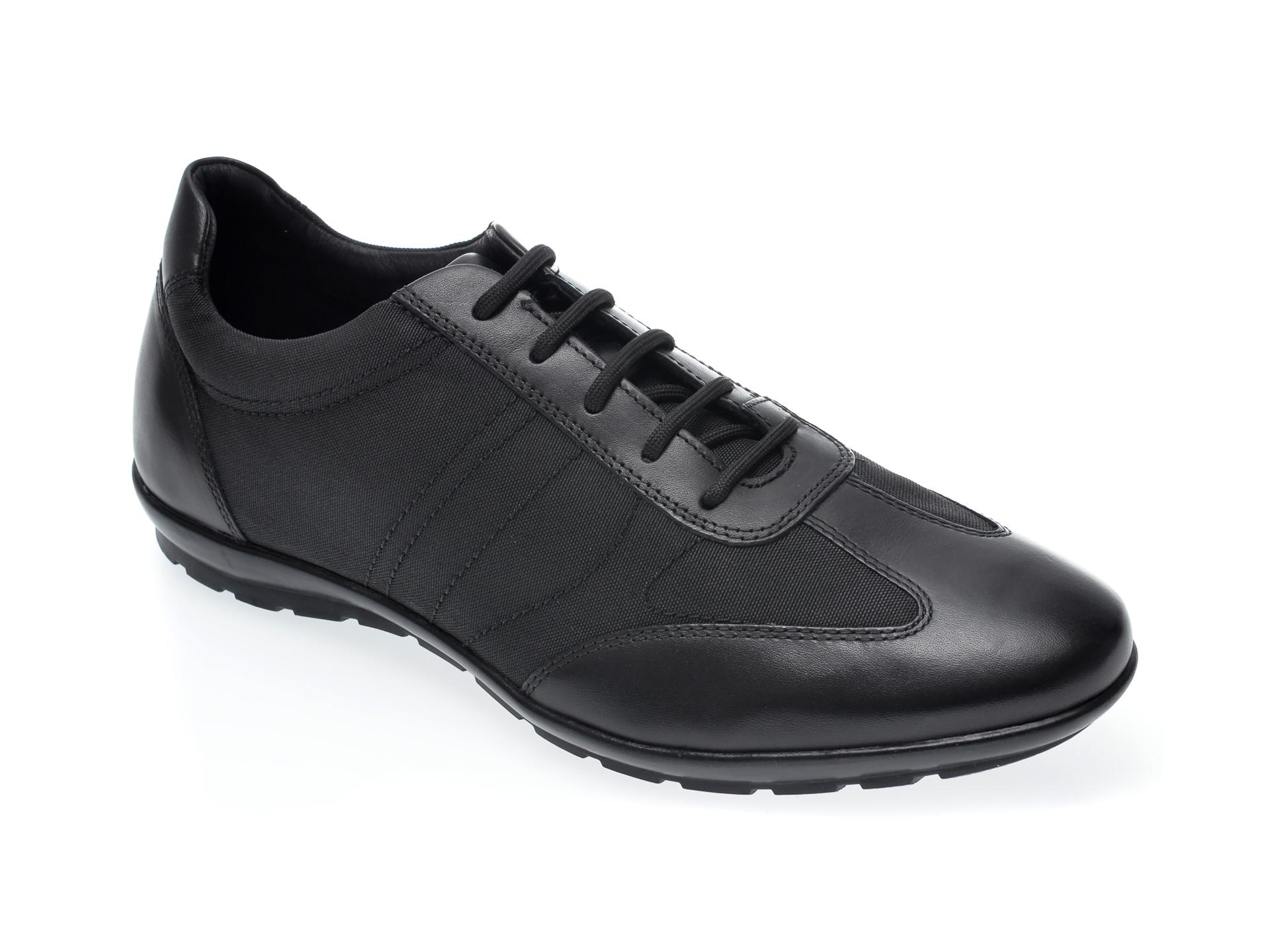 Pantofi GEOX negri, U74A5B, din material textil si piele naturala imagine