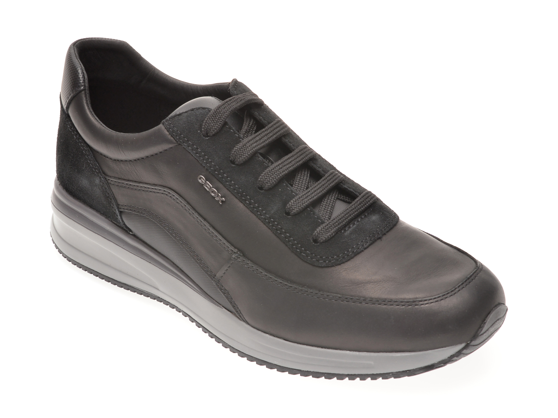 Pantofi GEOX negri, U920GA, din piele naturala imagine