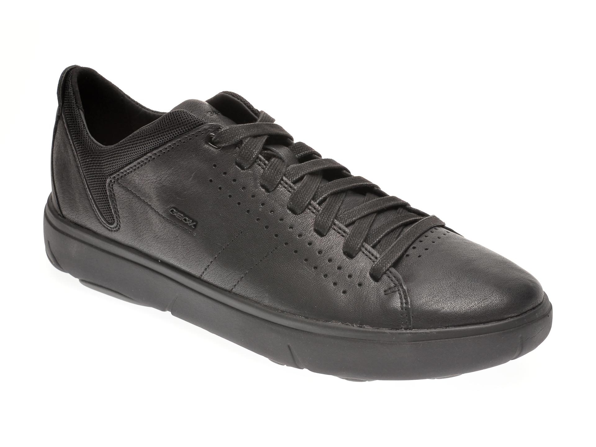 Pantofi GEOX negri, U948FA, din piele naturala imagine