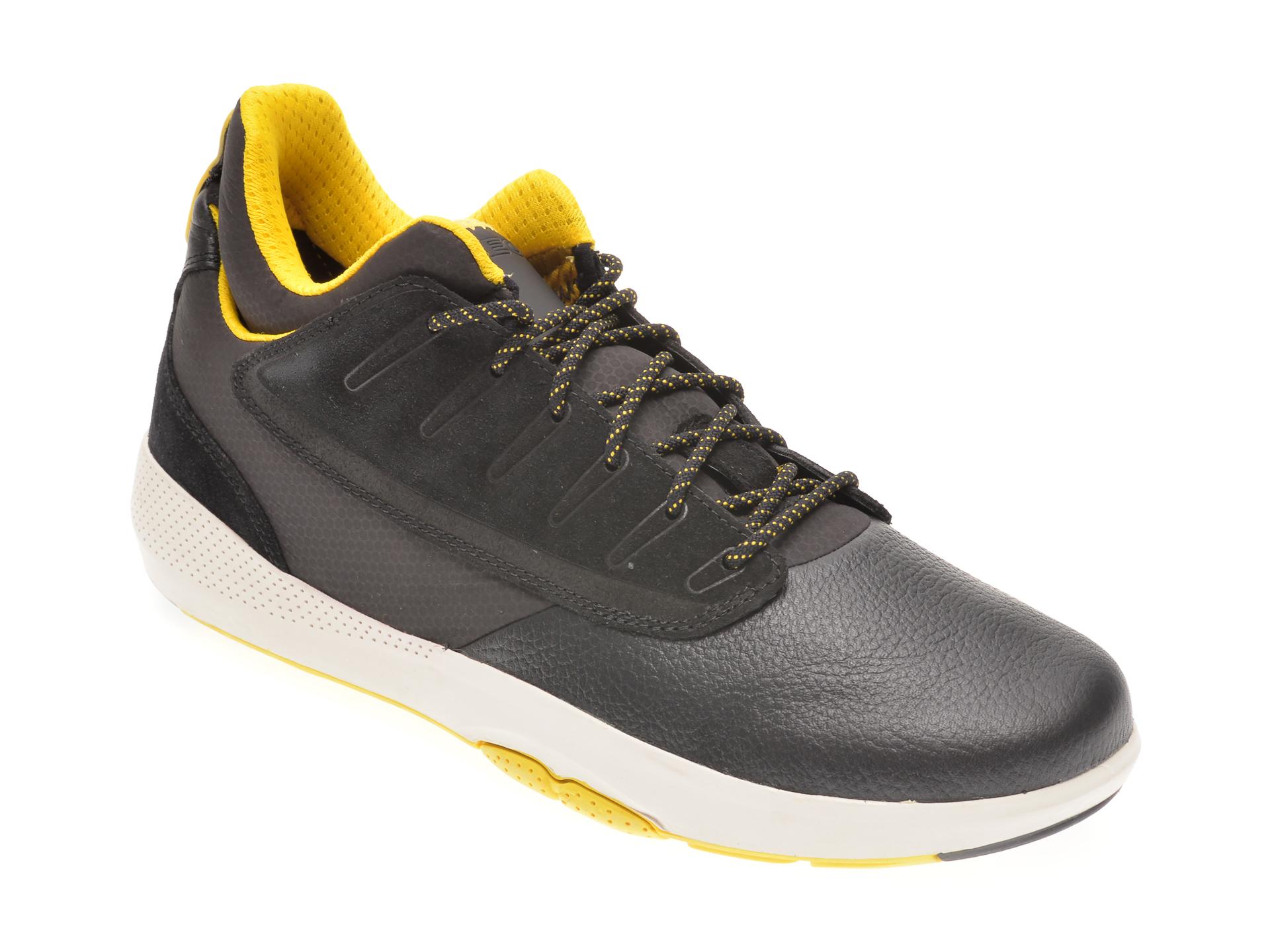 Pantofi GEOX negri, U948LA, din piele naturala