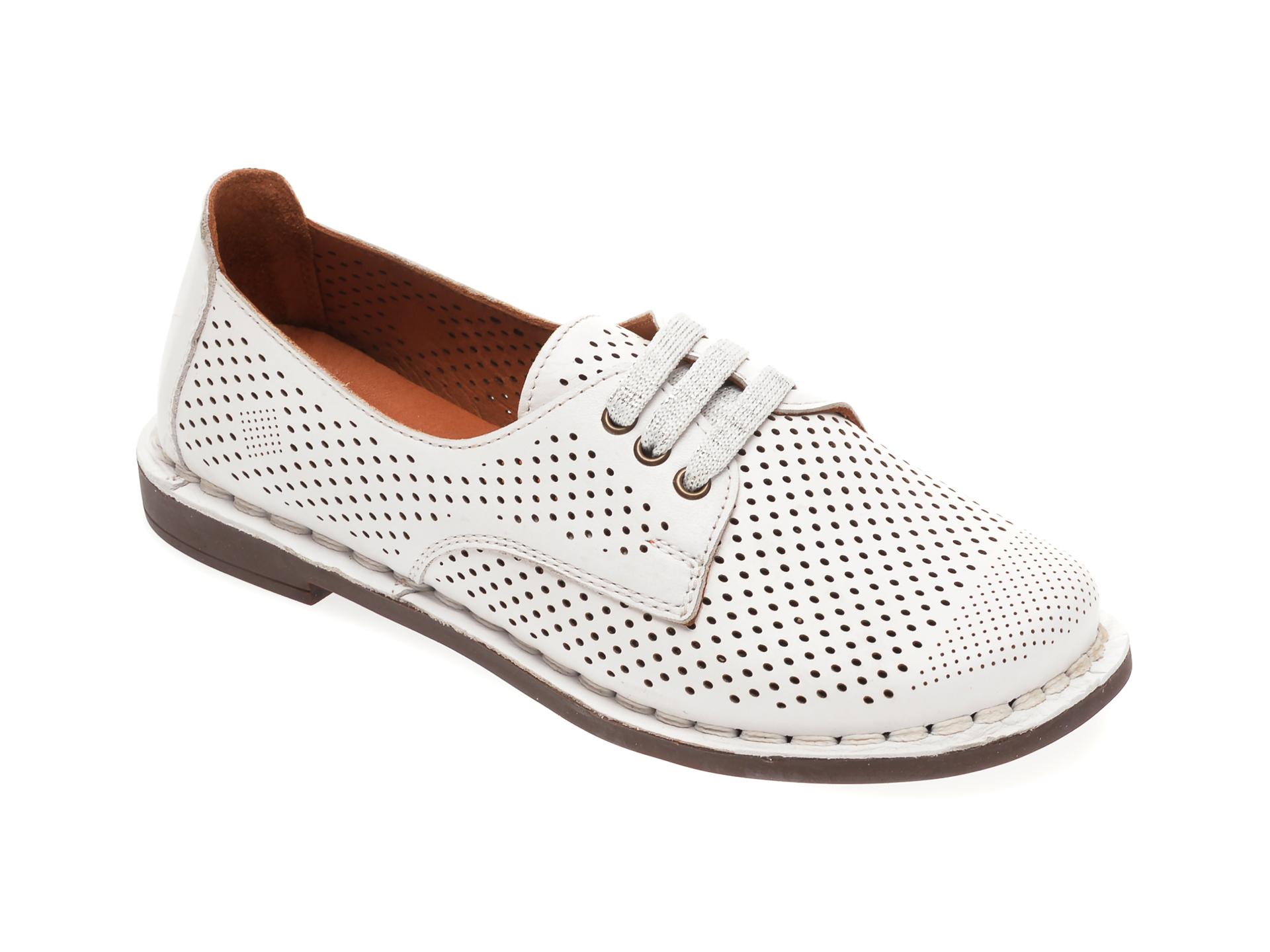 Pantofi GRAND MODA albi, 511101, din piele naturala
