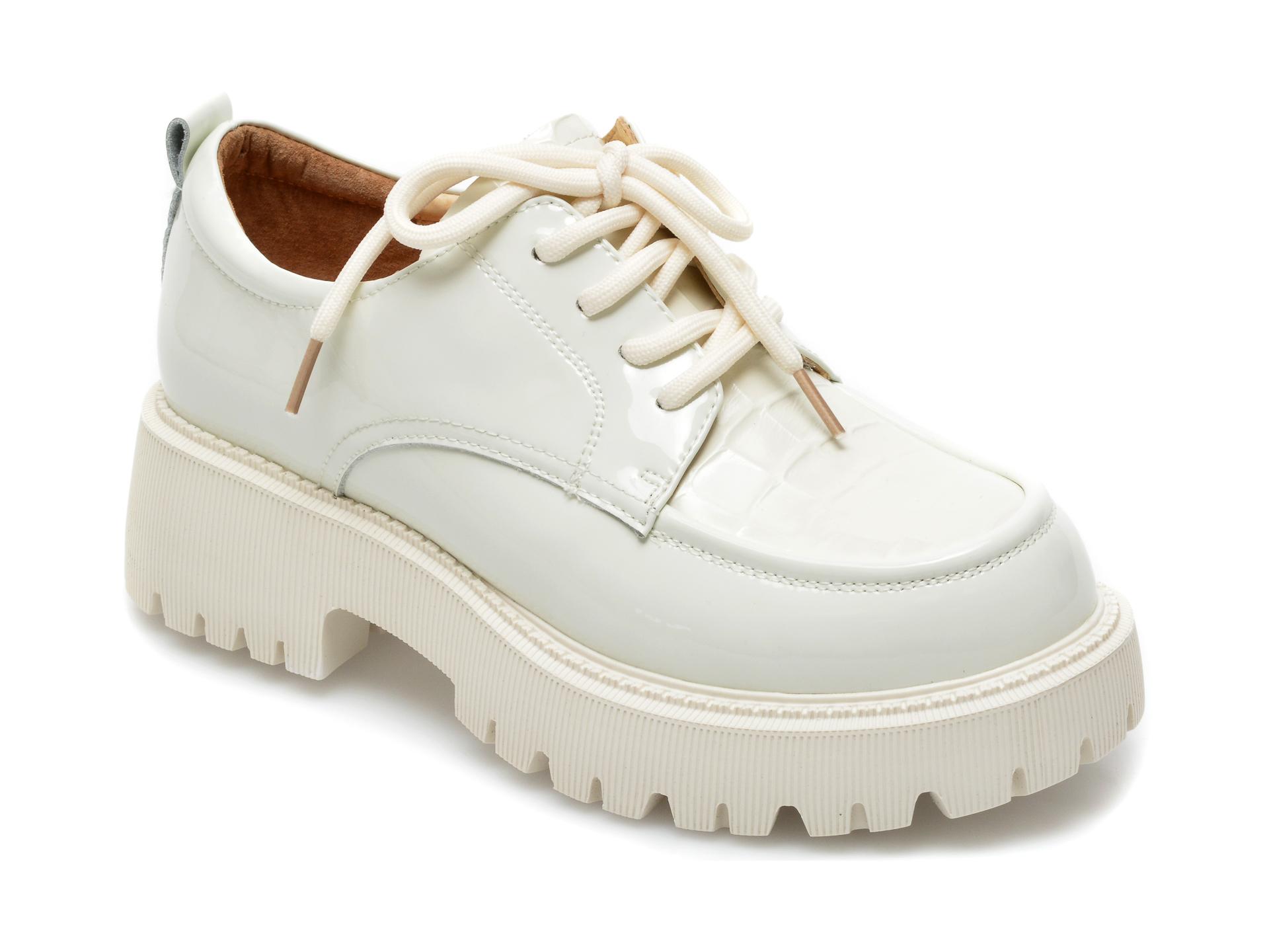 Pantofi GRYXX albi, A21170, din piele naturala lacuita imagine otter.ro 2021