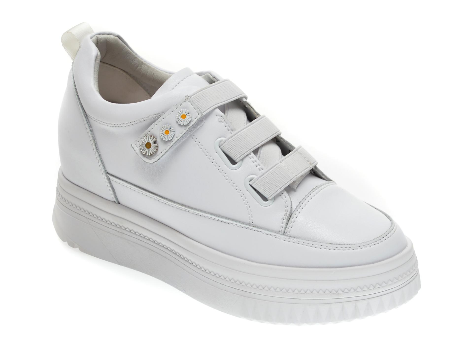 Pantofi GRYXX albi, Q5018, din piele naturala imagine