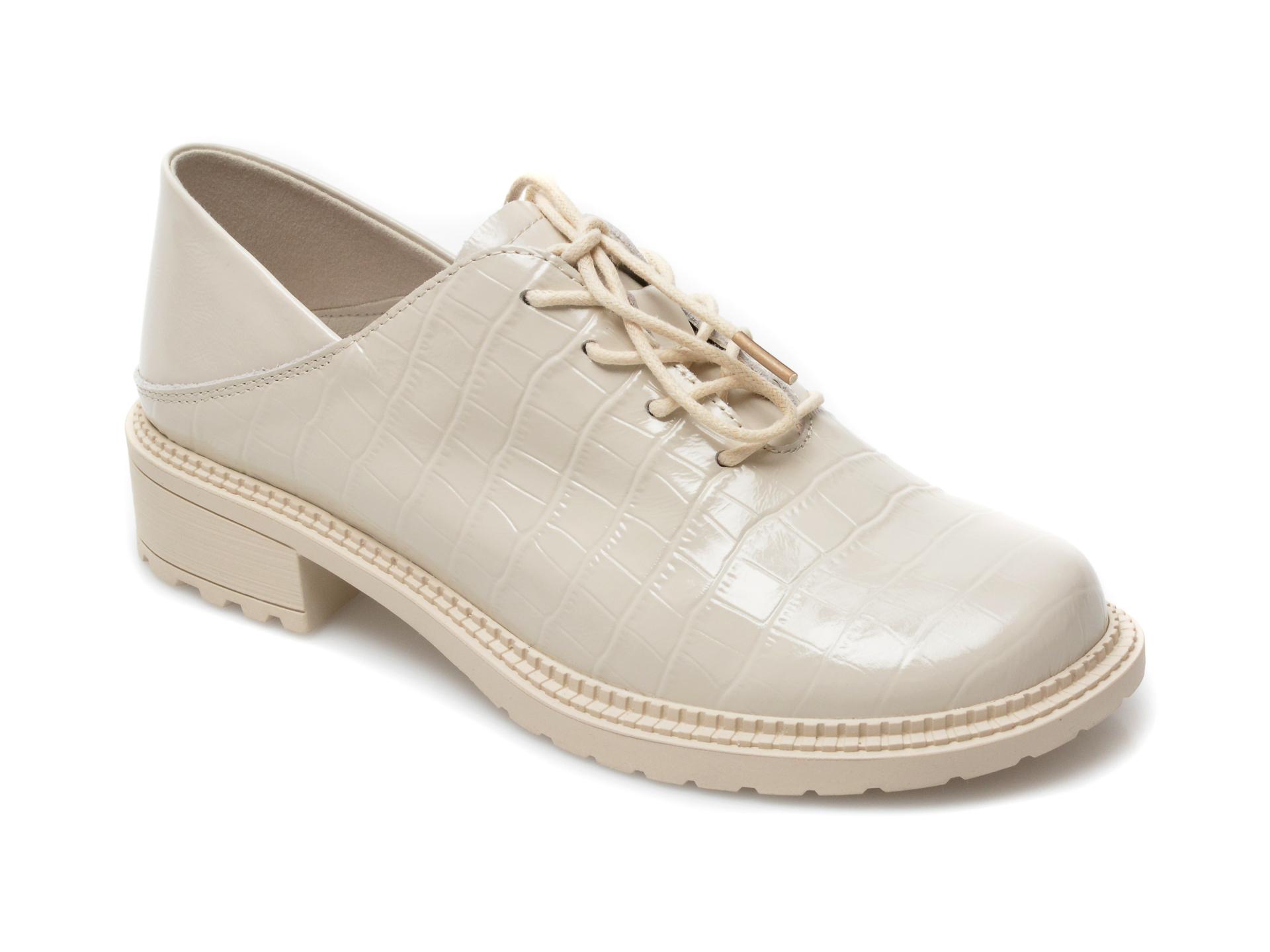 Pantofi GRYXX albi, Z018, din piele naturala lacuita imagine otter.ro 2021