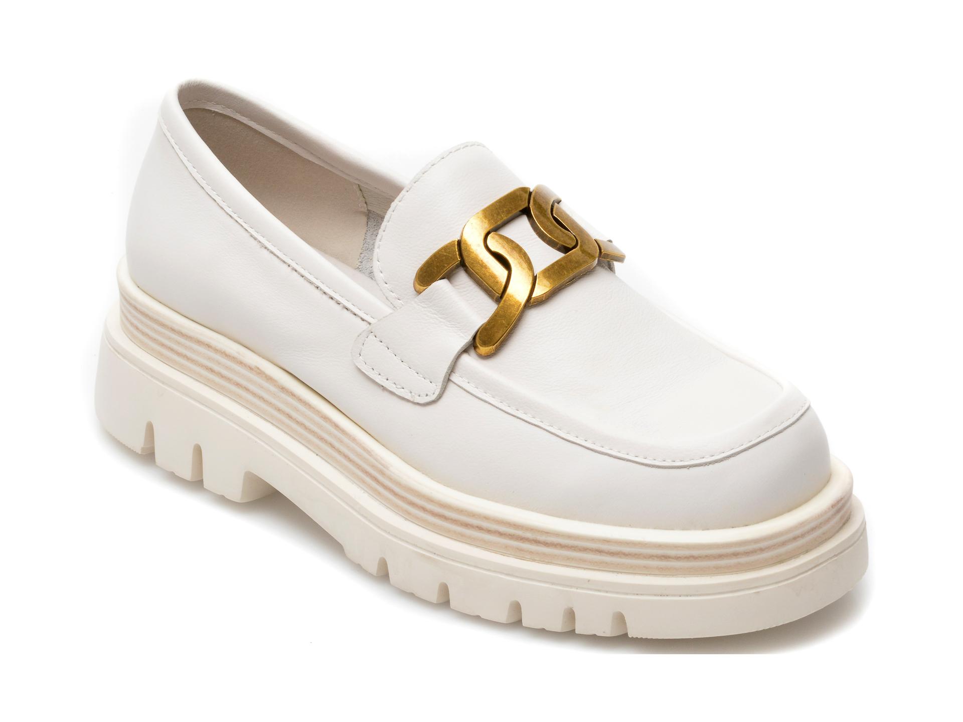 Pantofi GRYXX albi, Z019, din piele naturala imagine otter.ro 2021