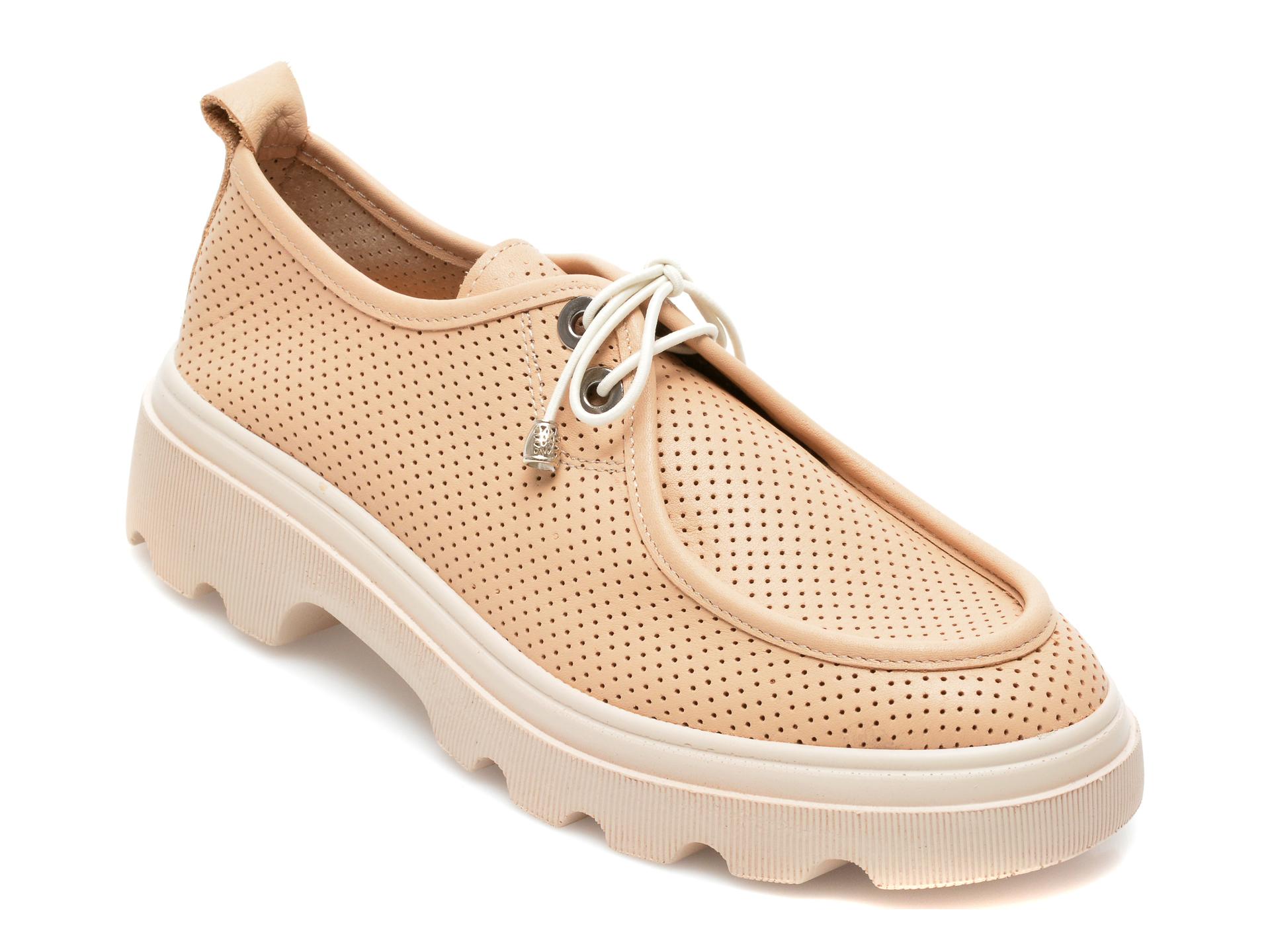Pantofi GRYXX bej, 195802, din piele naturala