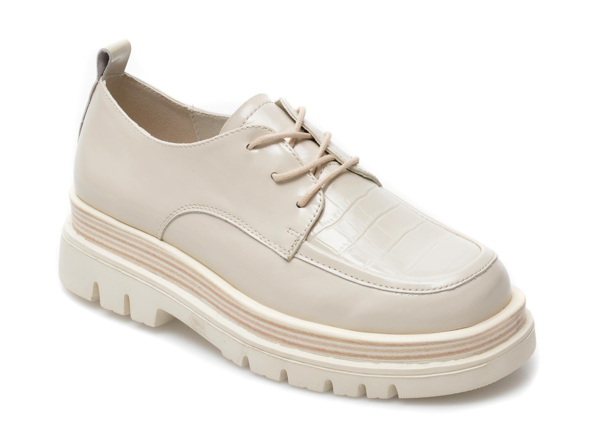 Pantofi GRYXX bej, Z045, din piele naturala imagine otter.ro 2021