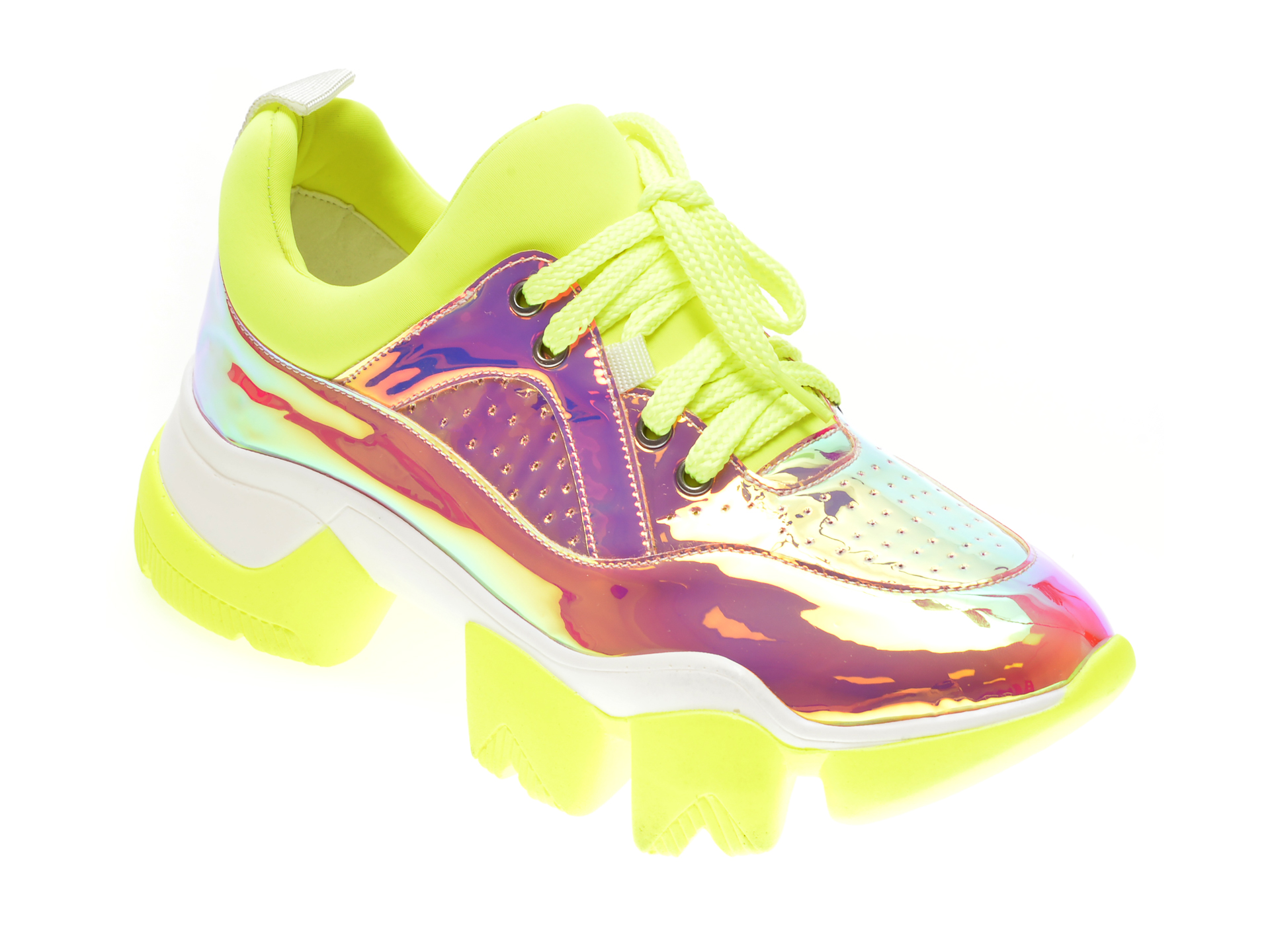 Pantofi GRYXX galbeni, M0992, din combinatii