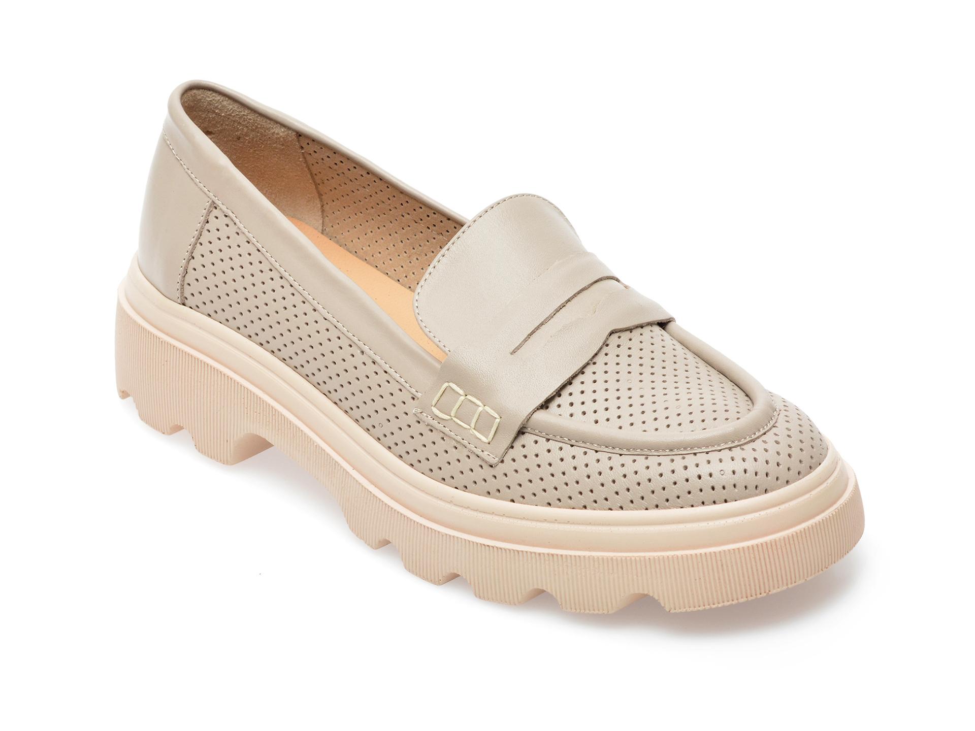 Pantofi GRYXX gri, 1951011, din piele naturala imagine otter.ro 2021