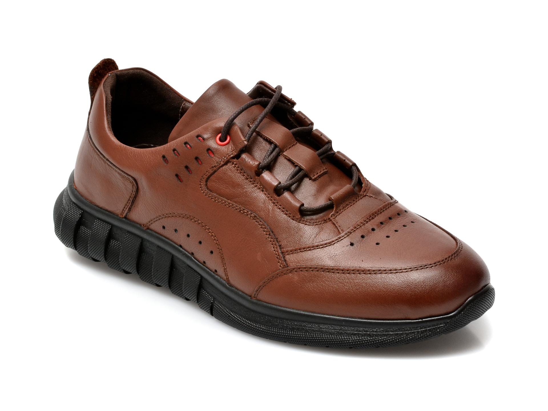 Pantofi GRYXX maro, SYR104, din piele naturala