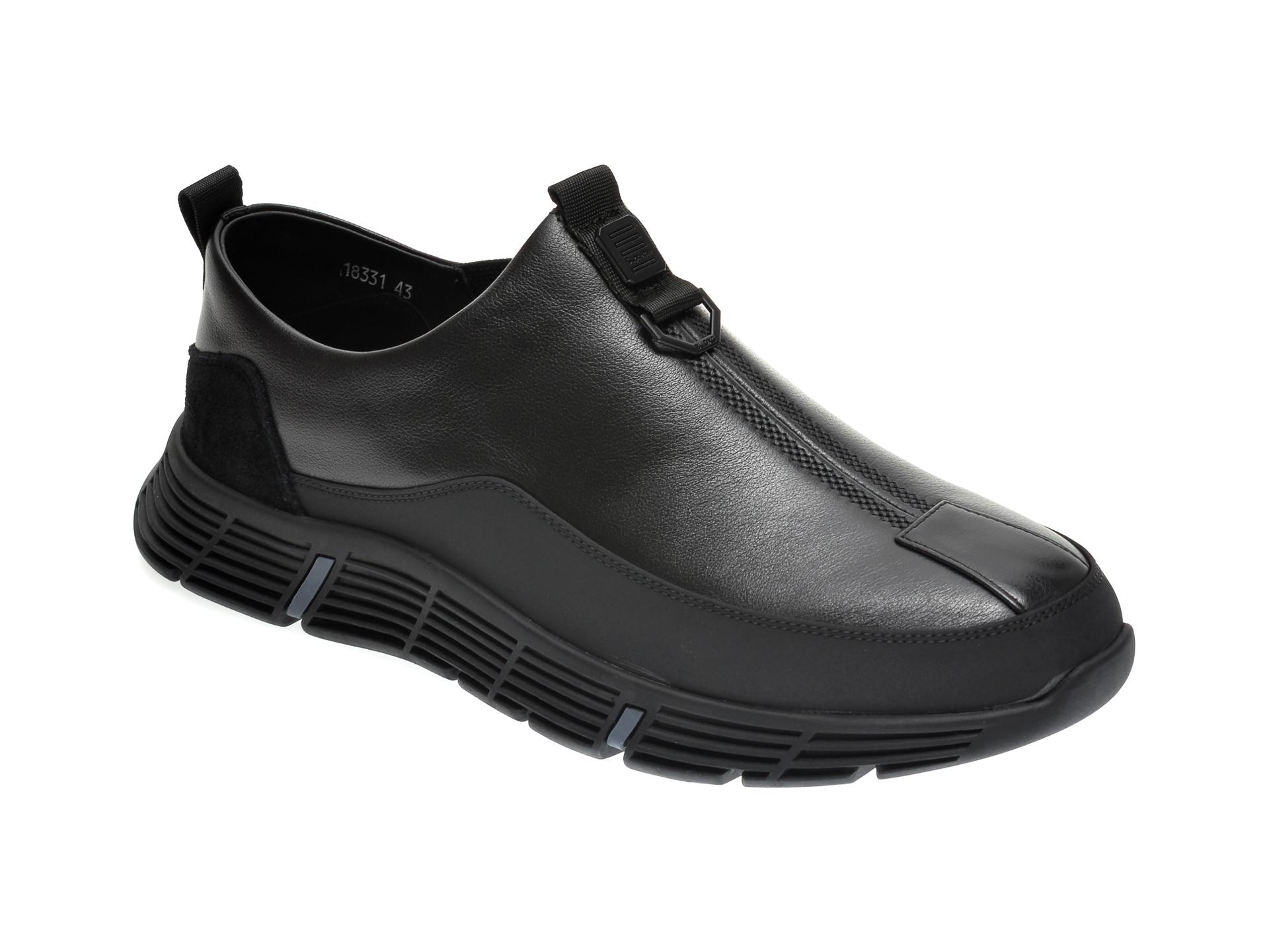 Pantofi GRYXX negri, 18335, din piele naturala imagine