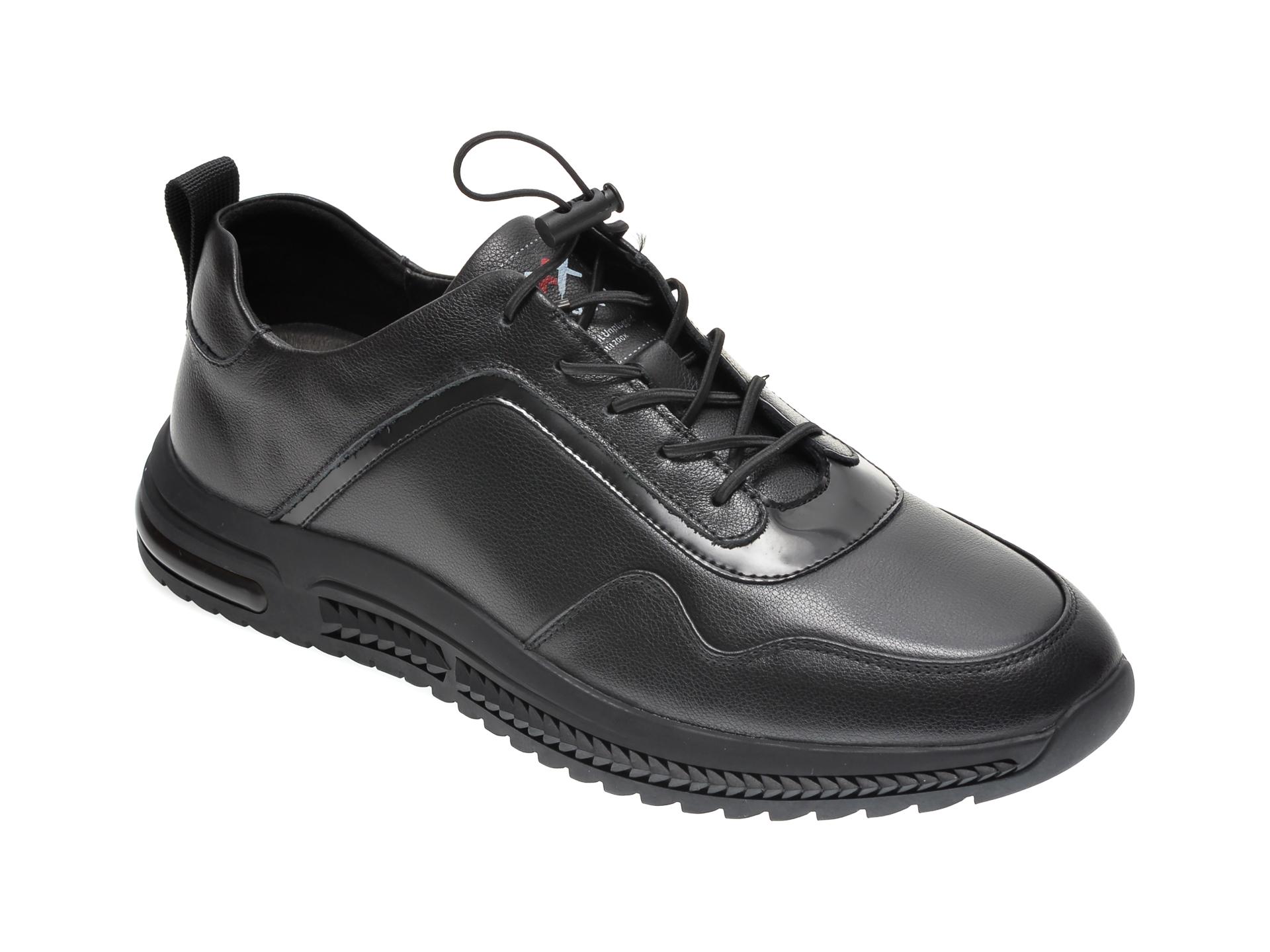Pantofi GRYXX negri, 18336, din piele naturala