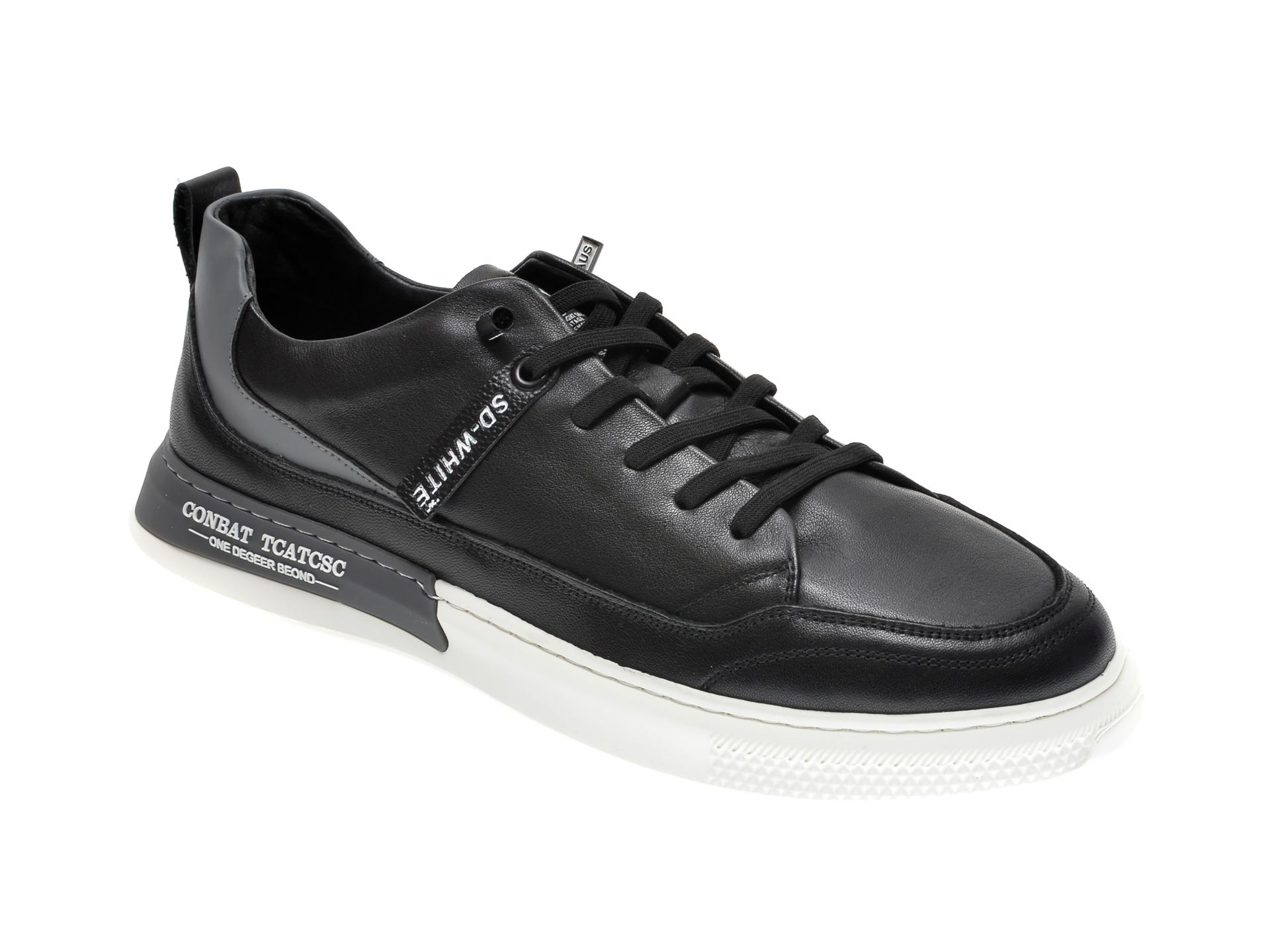 Pantofi GRYXX negri, 207081, din piele naturala imagine
