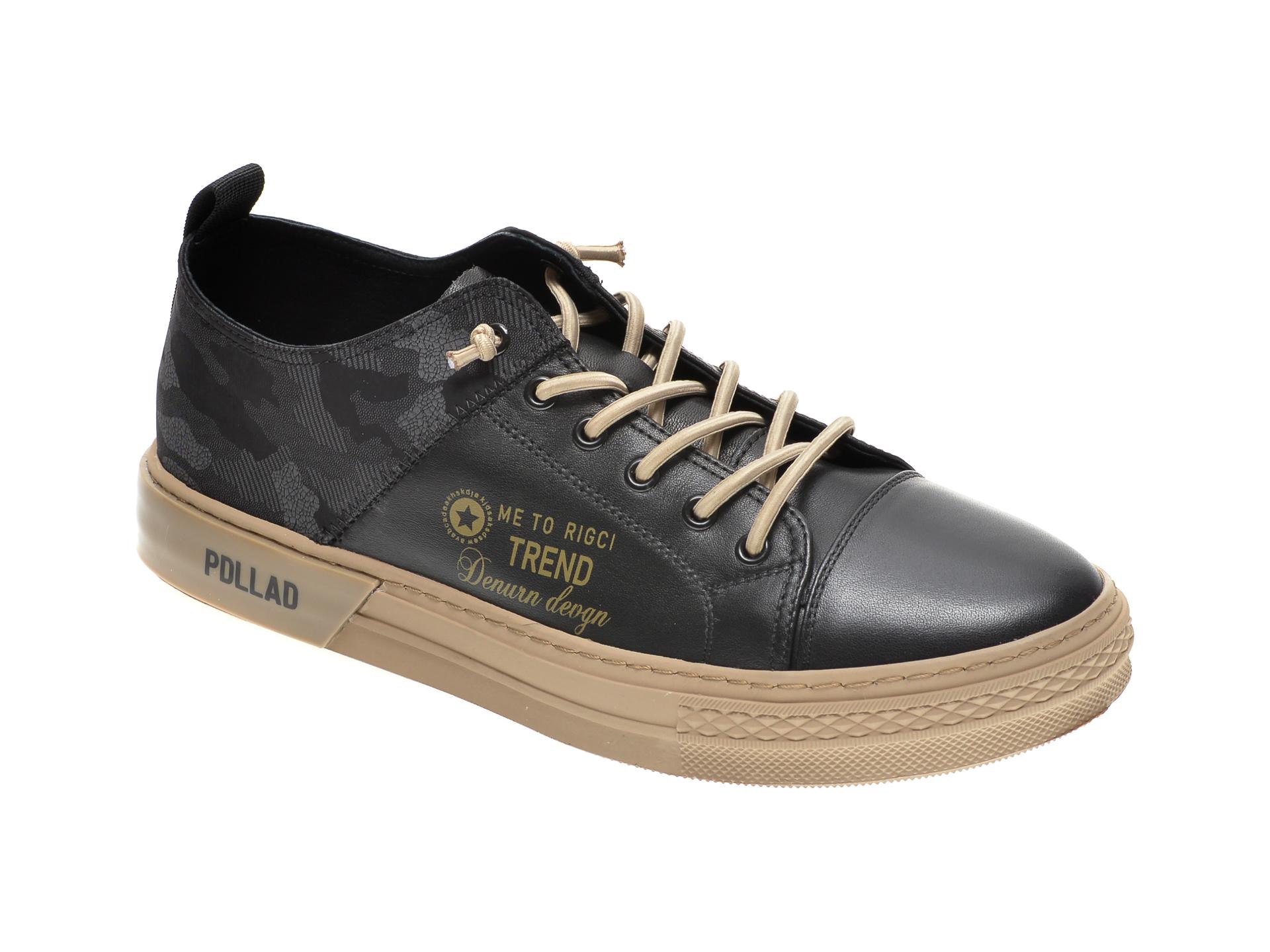 Pantofi GRYXX negri, 81381, din material textil si piele naturala imagine