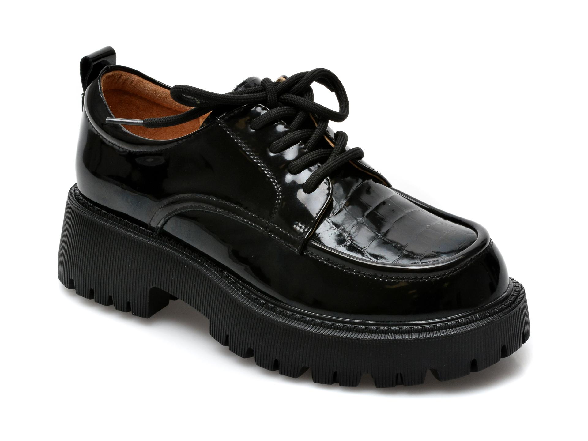 Pantofi GRYXX negri, A21170, din piele naturala lacuita imagine otter.ro 2021