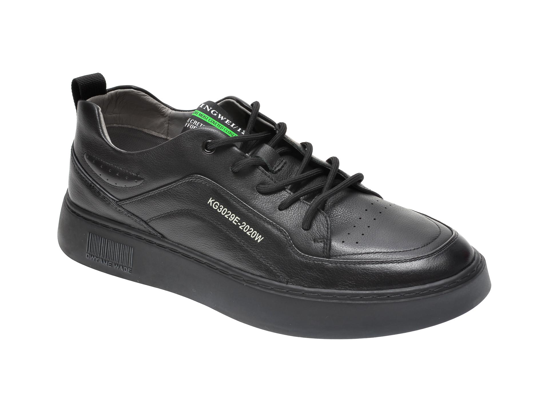 Pantofi GRYXX negri, D05161, din piele naturala imagine