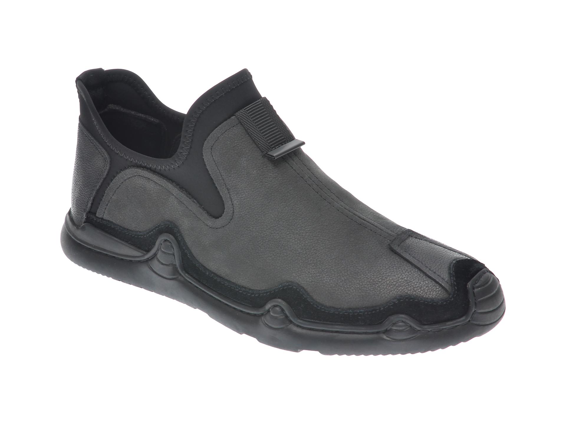 Pantofi GRYXX negri, M80380E, din piele naturala imagine