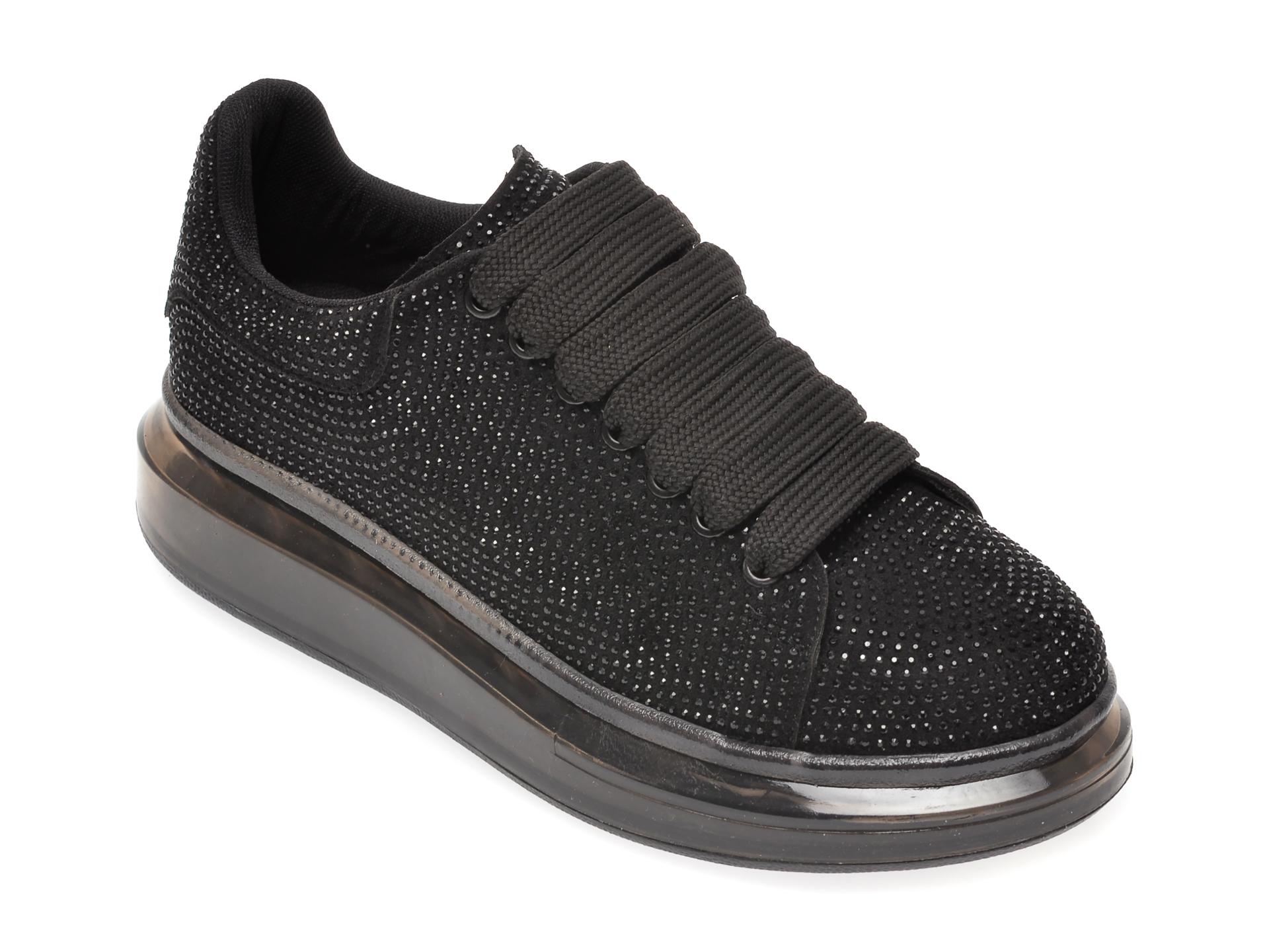 Pantofi GRYXX negri, MO1181, din piele ecologica