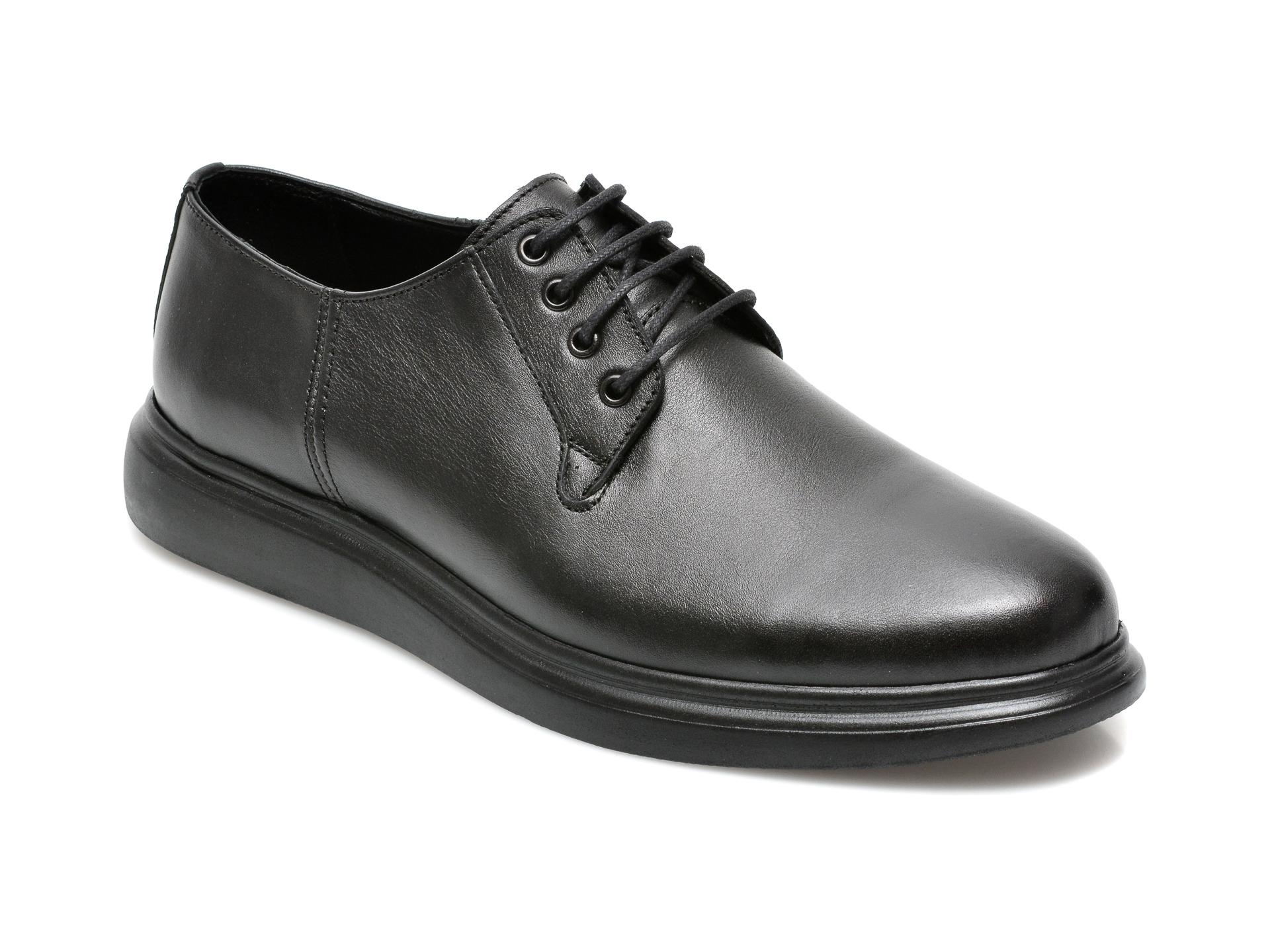 Pantofi GRYXX negri, NBL101, din piele naturala