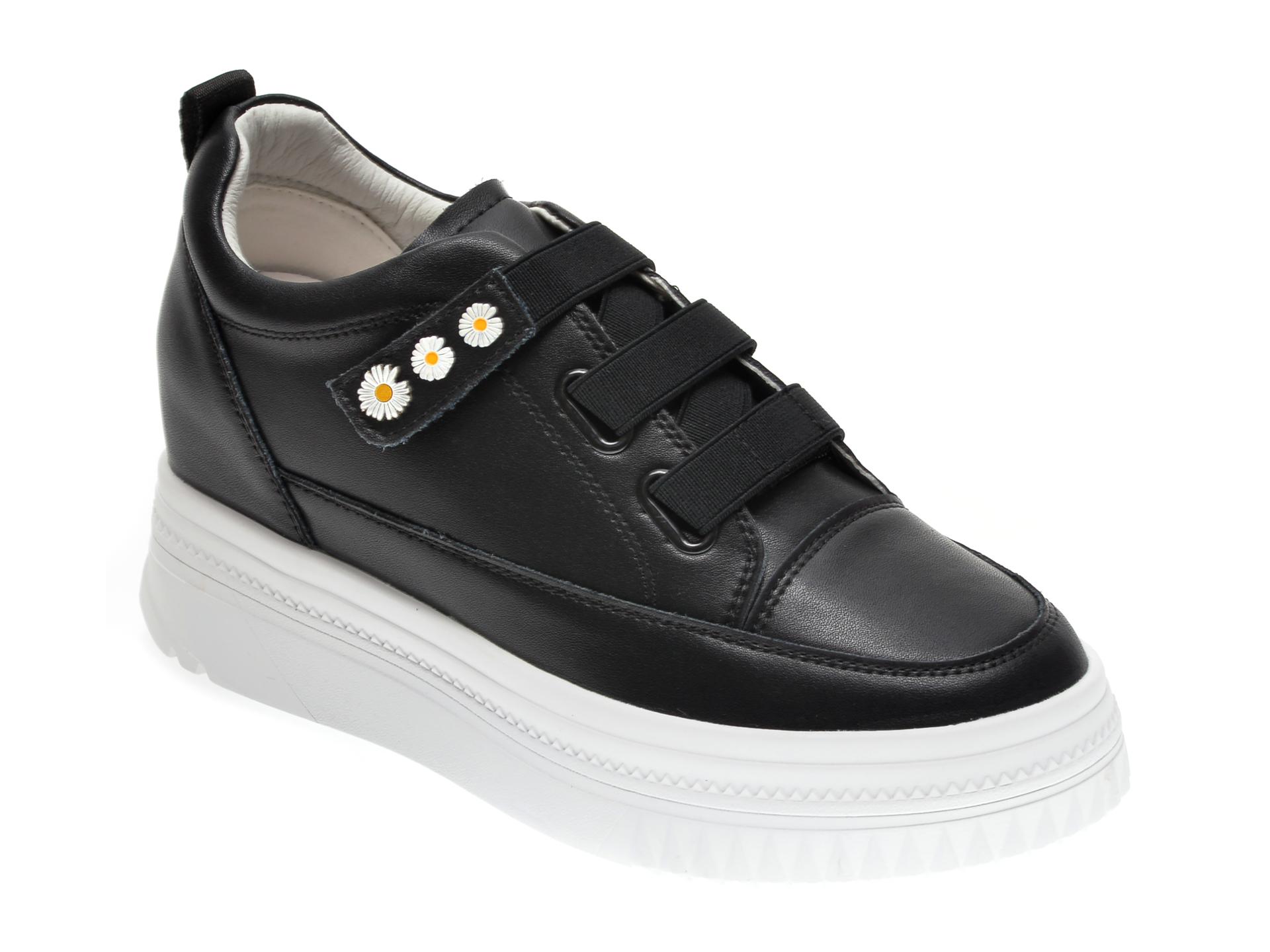 Pantofi GRYXX negri, Q5018, din piele naturala imagine