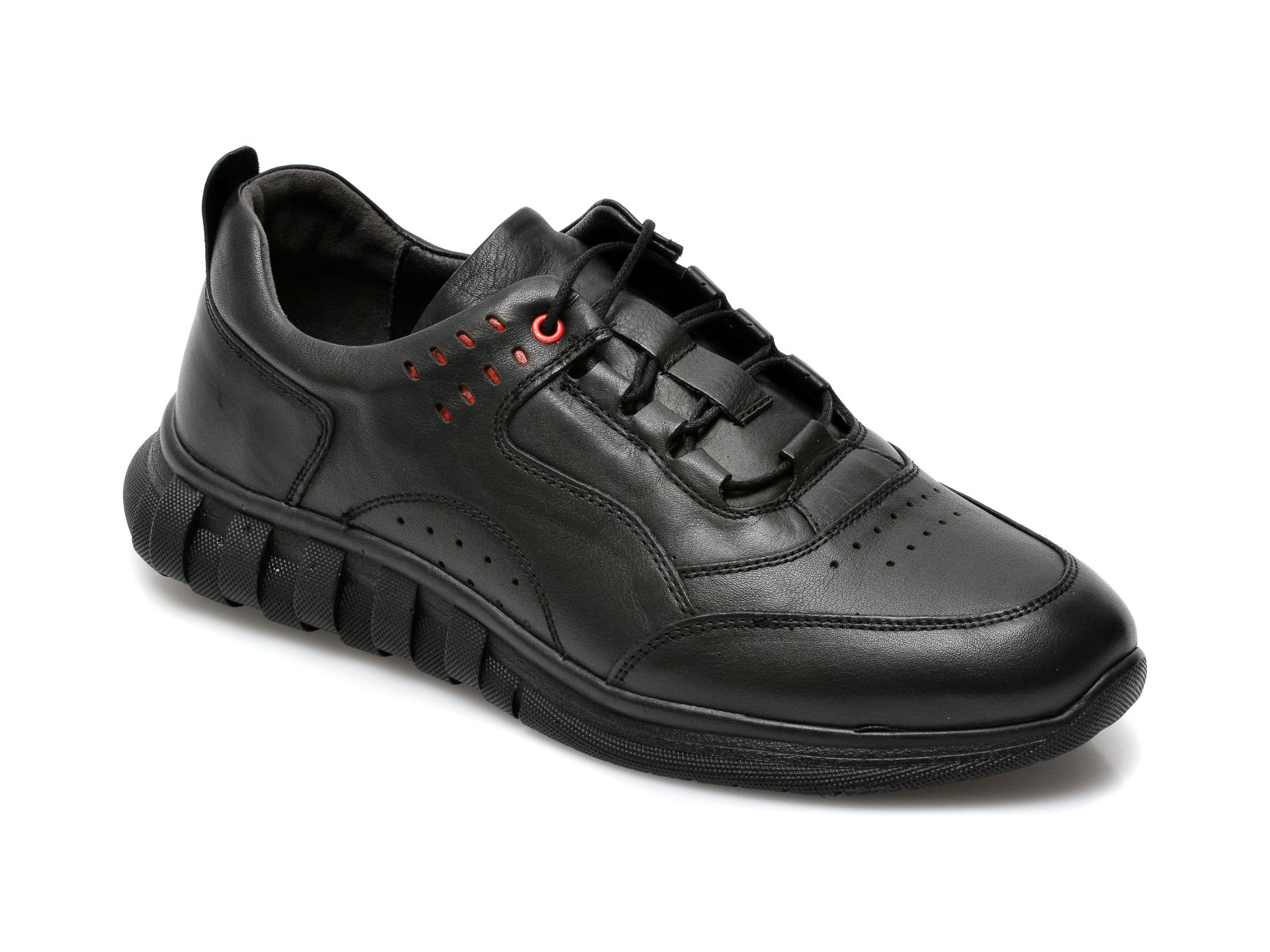 Pantofi GRYXX negri, SYR104, din piele naturala