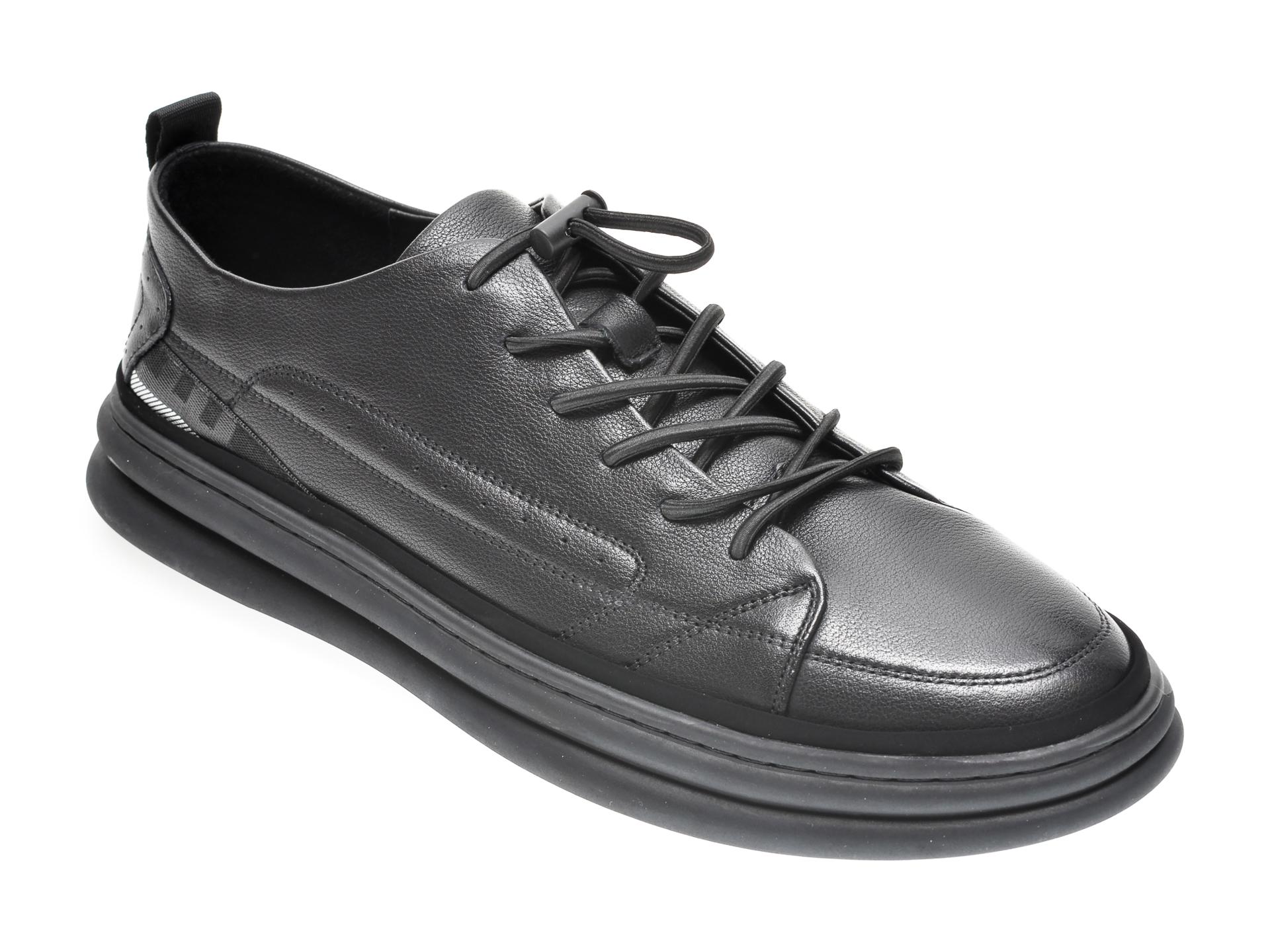 Pantofi GRYXX negri, YD99003, din piele naturala imagine