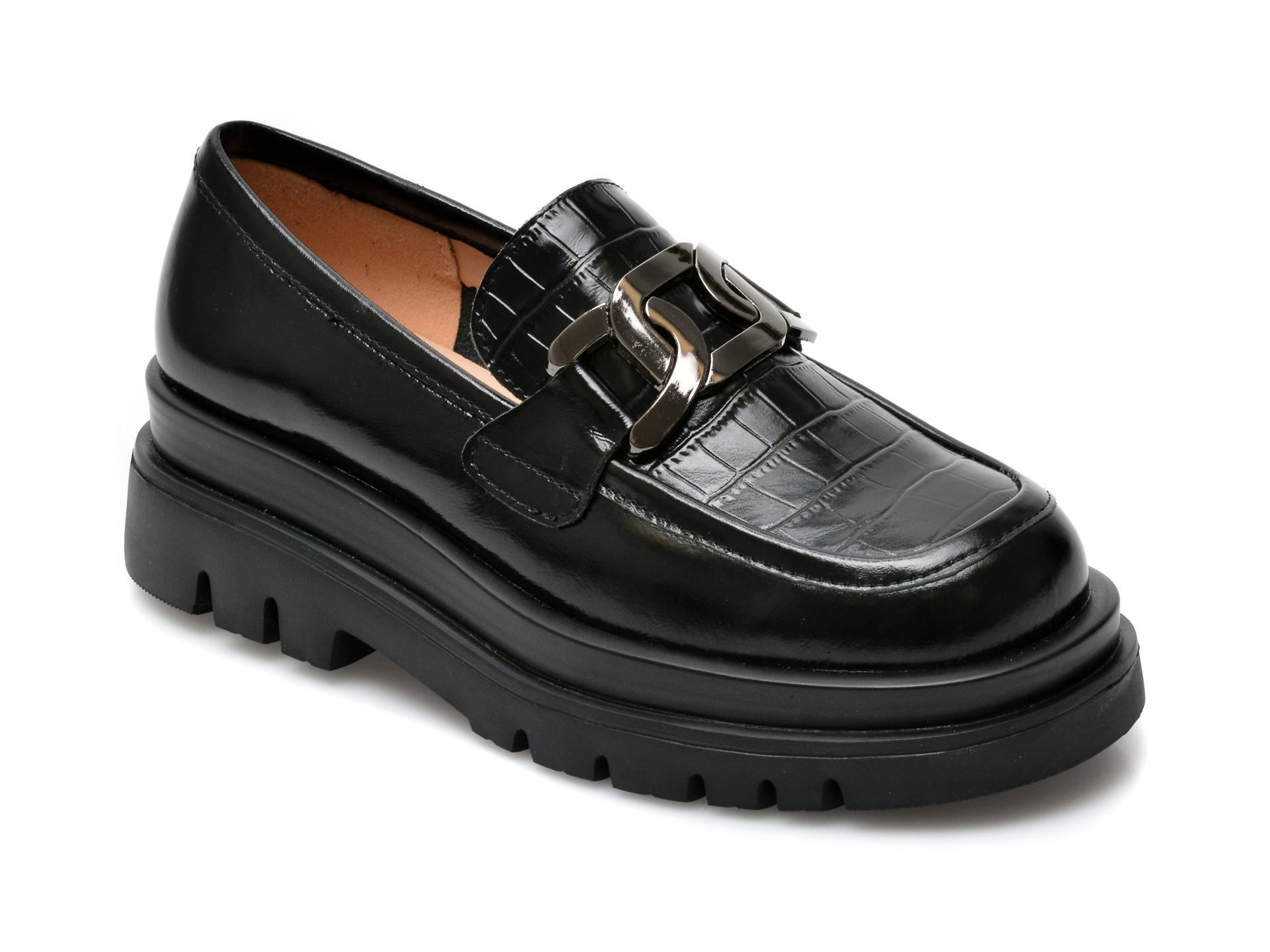 Pantofi GRYXX negri, Z019, din piele naturala imagine otter.ro 2021