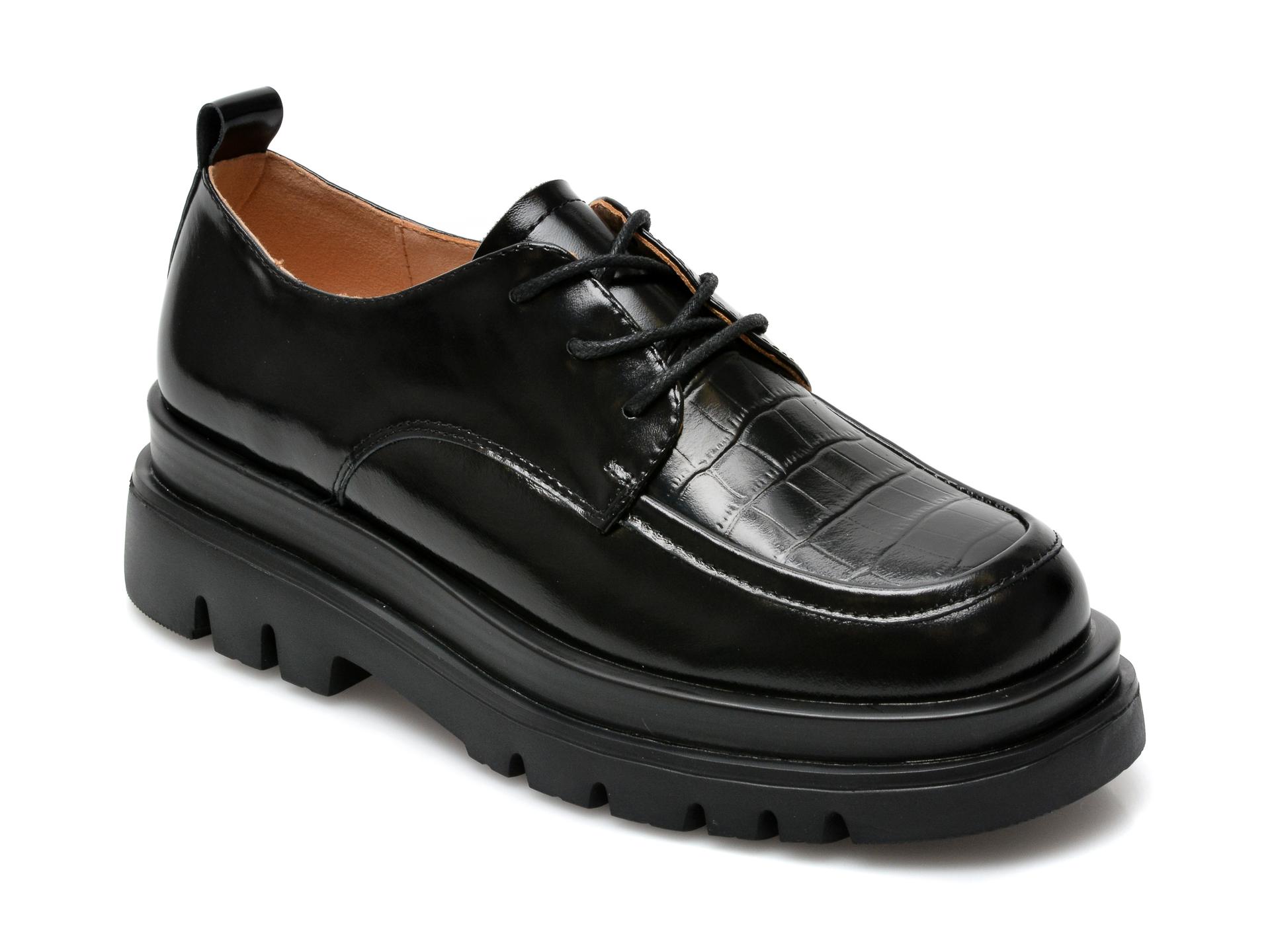 Pantofi GRYXX negri, Z045, din piele naturala imagine otter.ro 2021