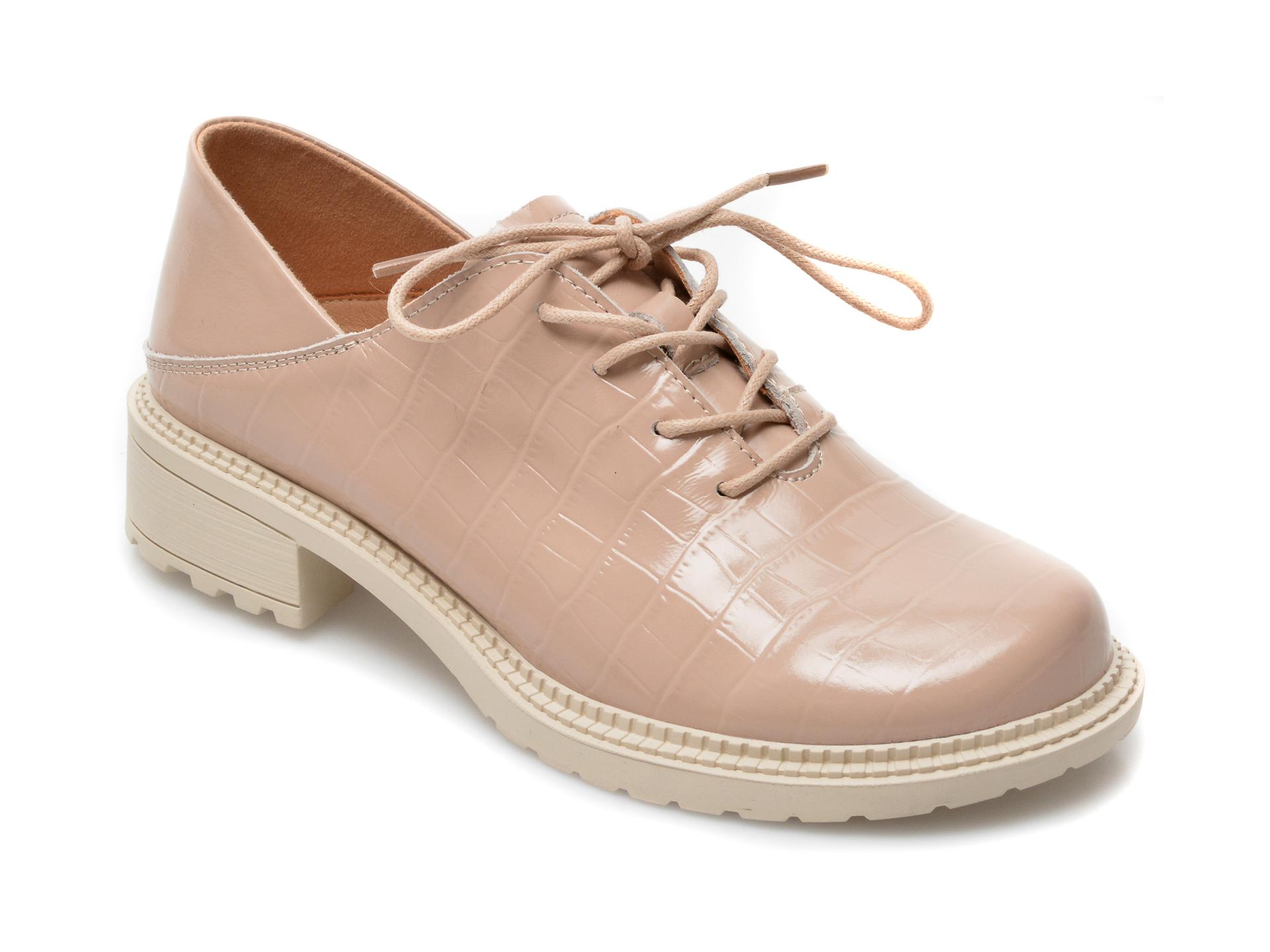 Pantofi GRYXX nude, Z018, din piele naturala lacuita imagine otter.ro 2021